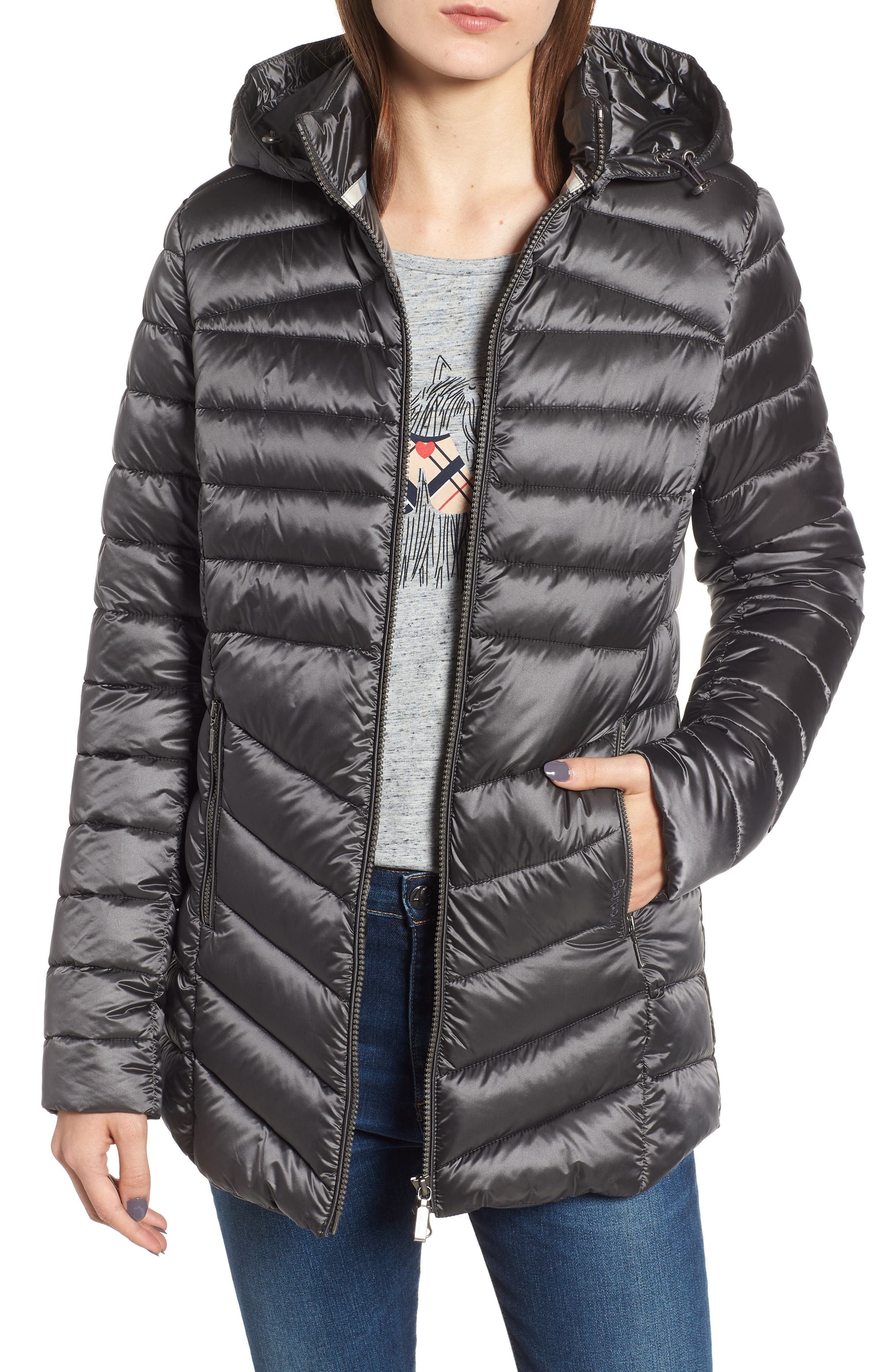 Barbour Ailith Quilted Jacket, US / 8 UK - Grey