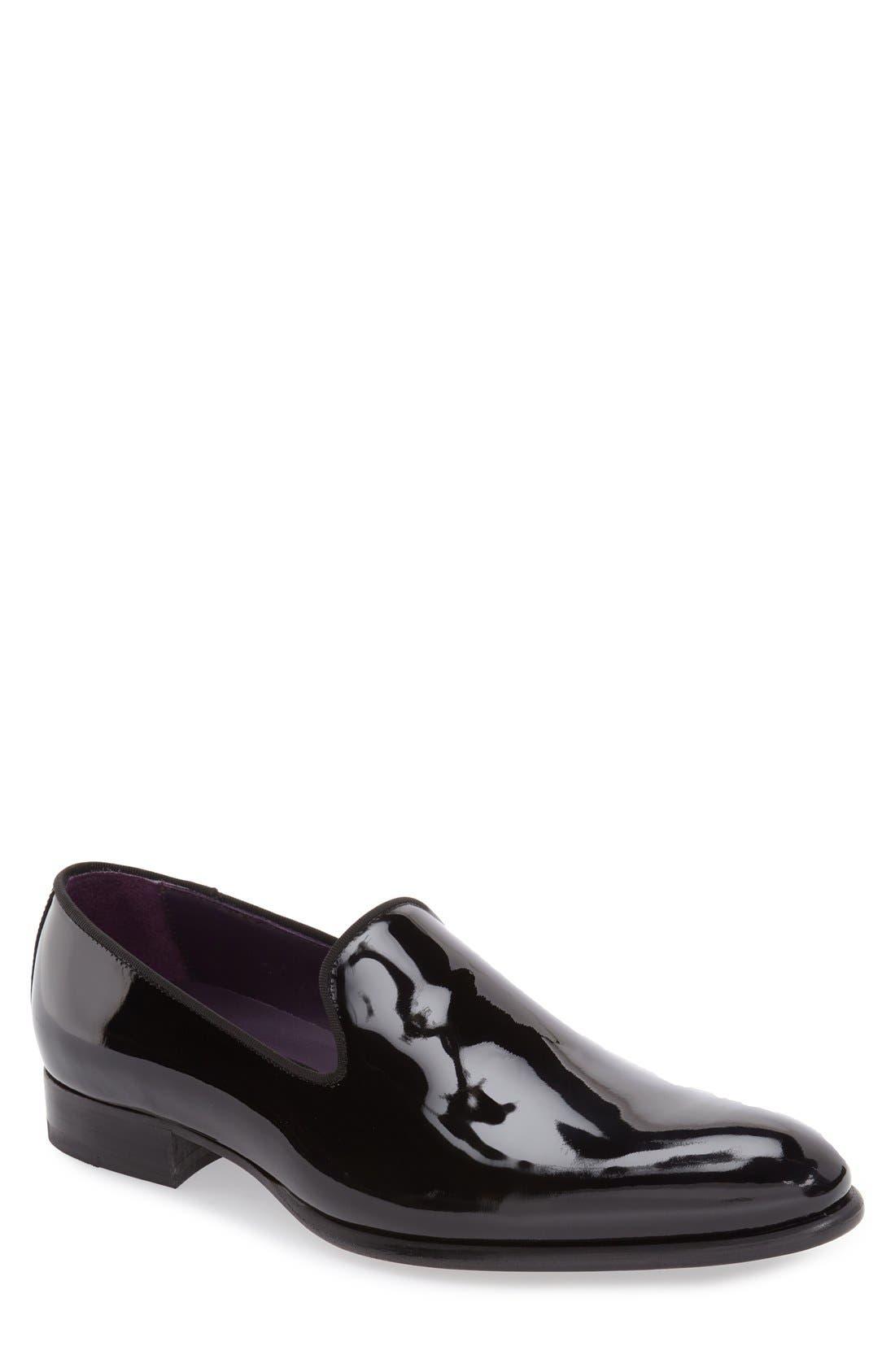 'Delevan' Loafer,                         Main,                         color, BLACK PATENT