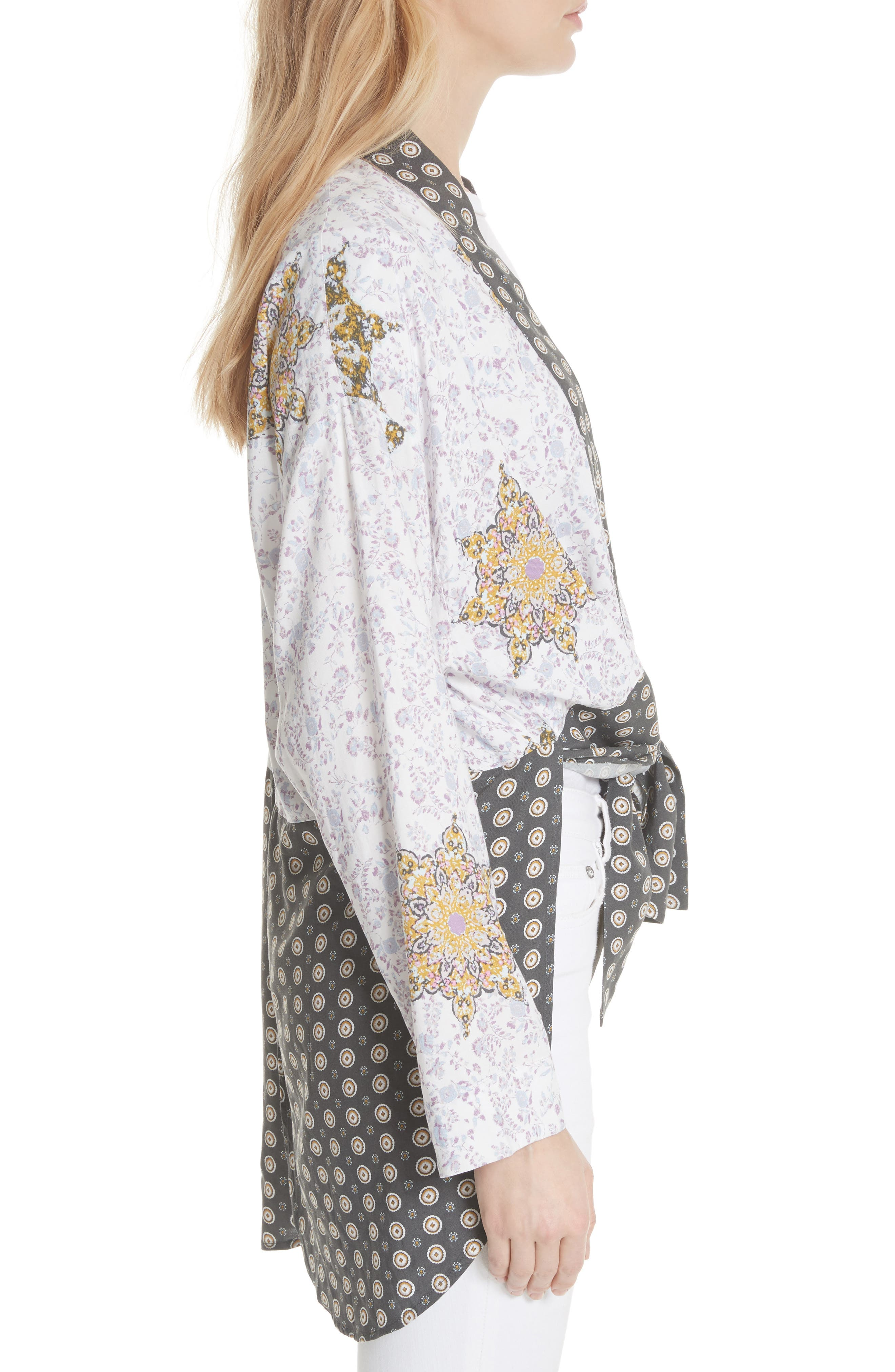 Forget Me Knot Tie Front Kimono,                             Alternate thumbnail 6, color,