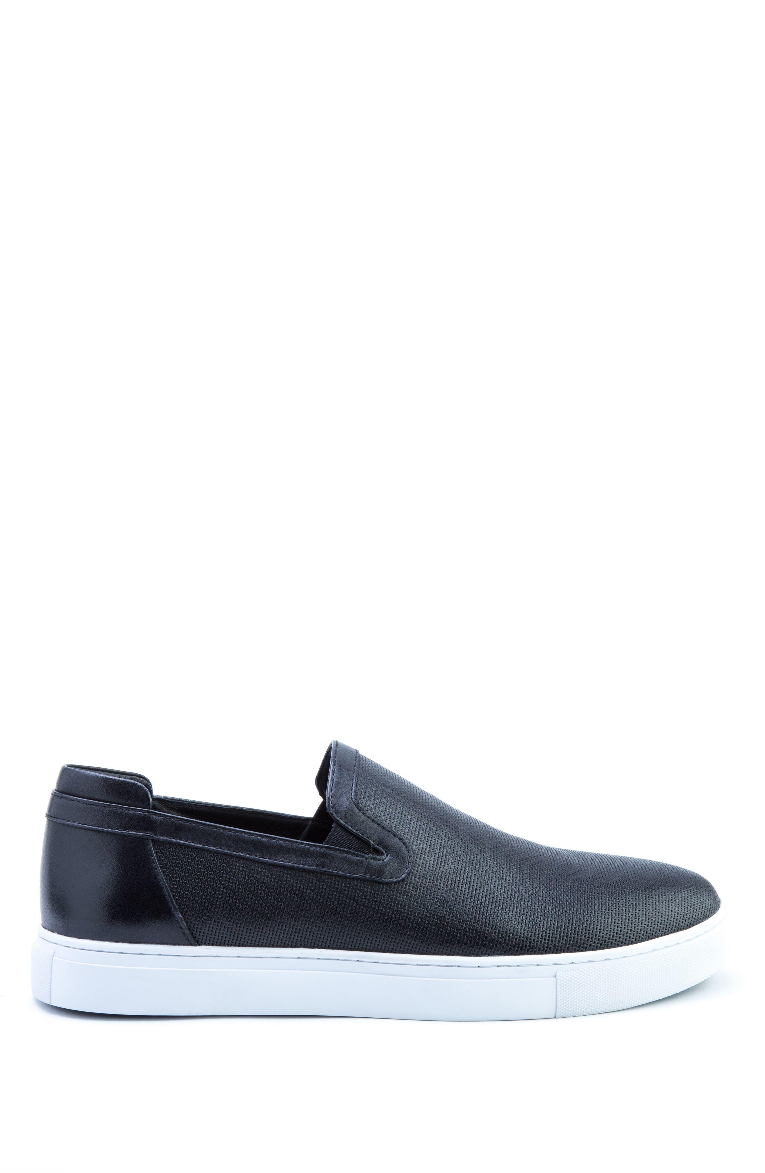 Grant Sneaker,                             Alternate thumbnail 3, color,                             BLACK LEATHER