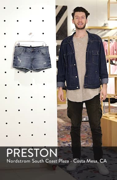 Boyfriend Distressed Denim Shorts, sales video thumbnail
