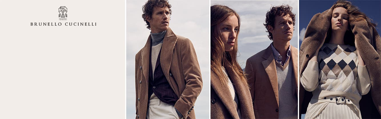 Brunello Cucinelli clothing for women and men.