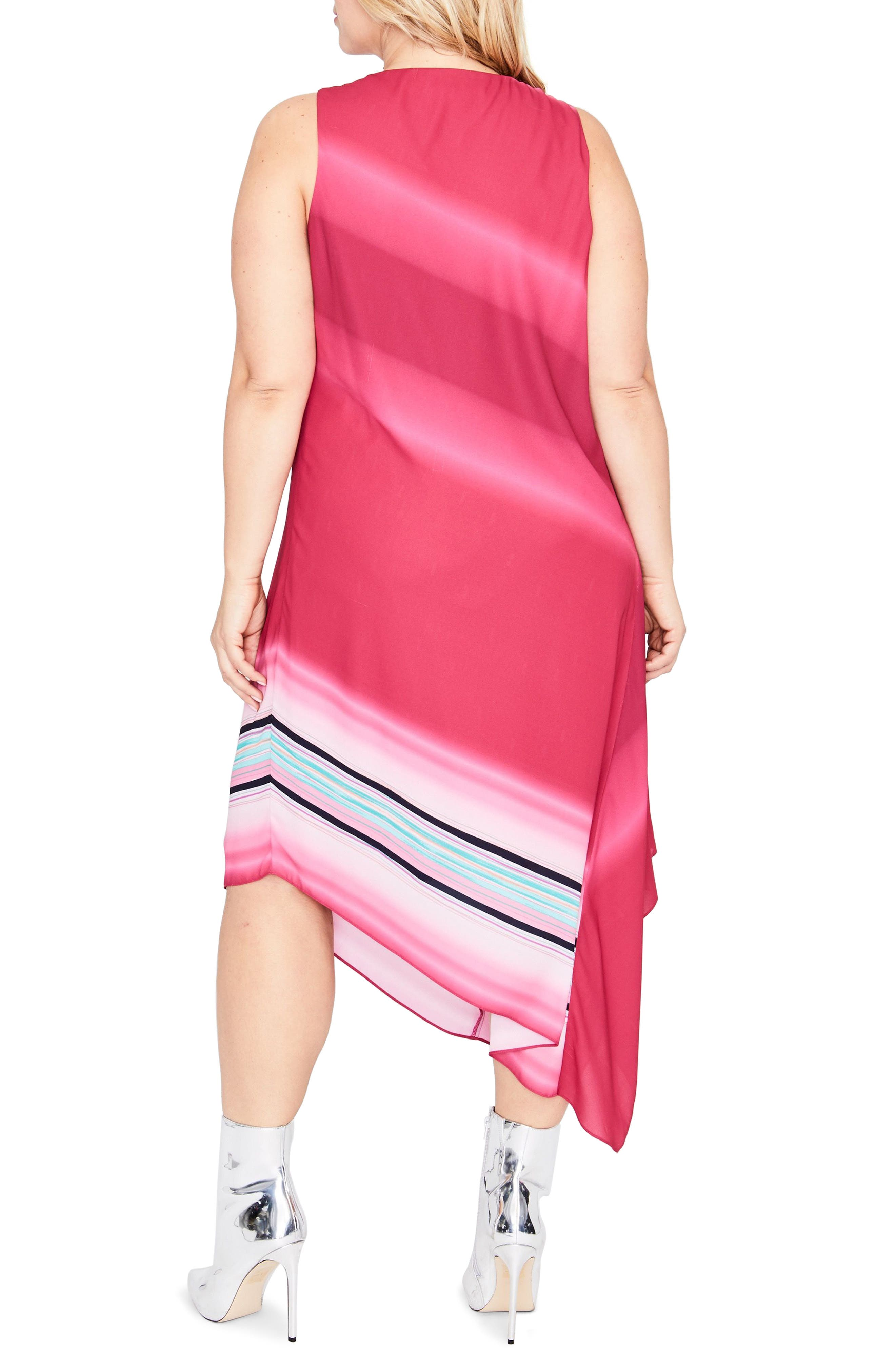 Cami Scarf Midi Dress,                             Alternate thumbnail 2, color,                             AZALEA OMBRE COMBO