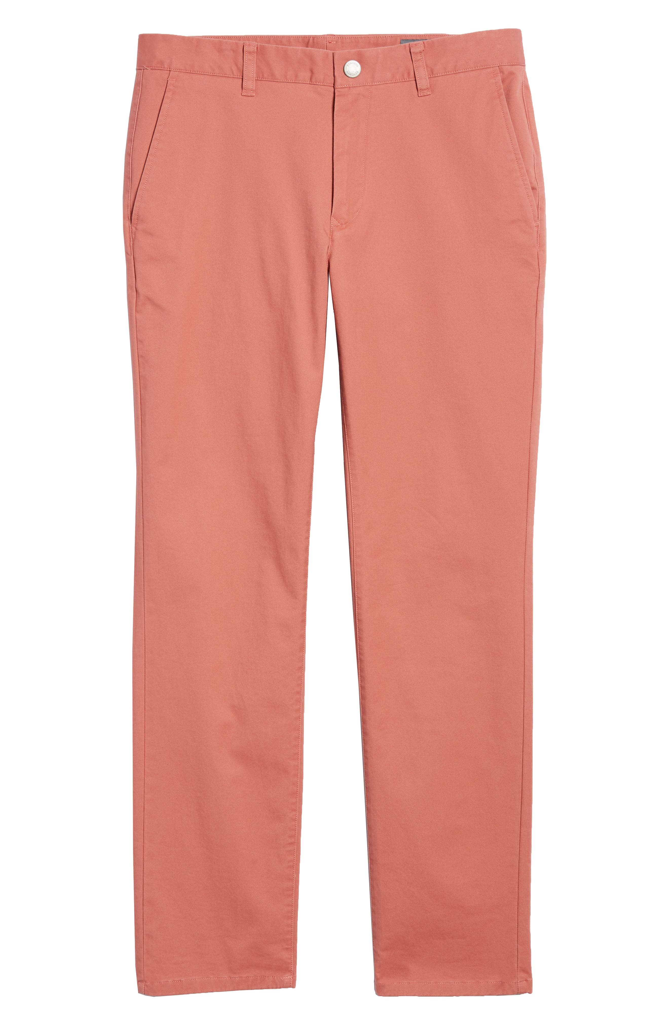 Tailored Fit Washed Stretch Cotton Chinos,                             Alternate thumbnail 195, color,