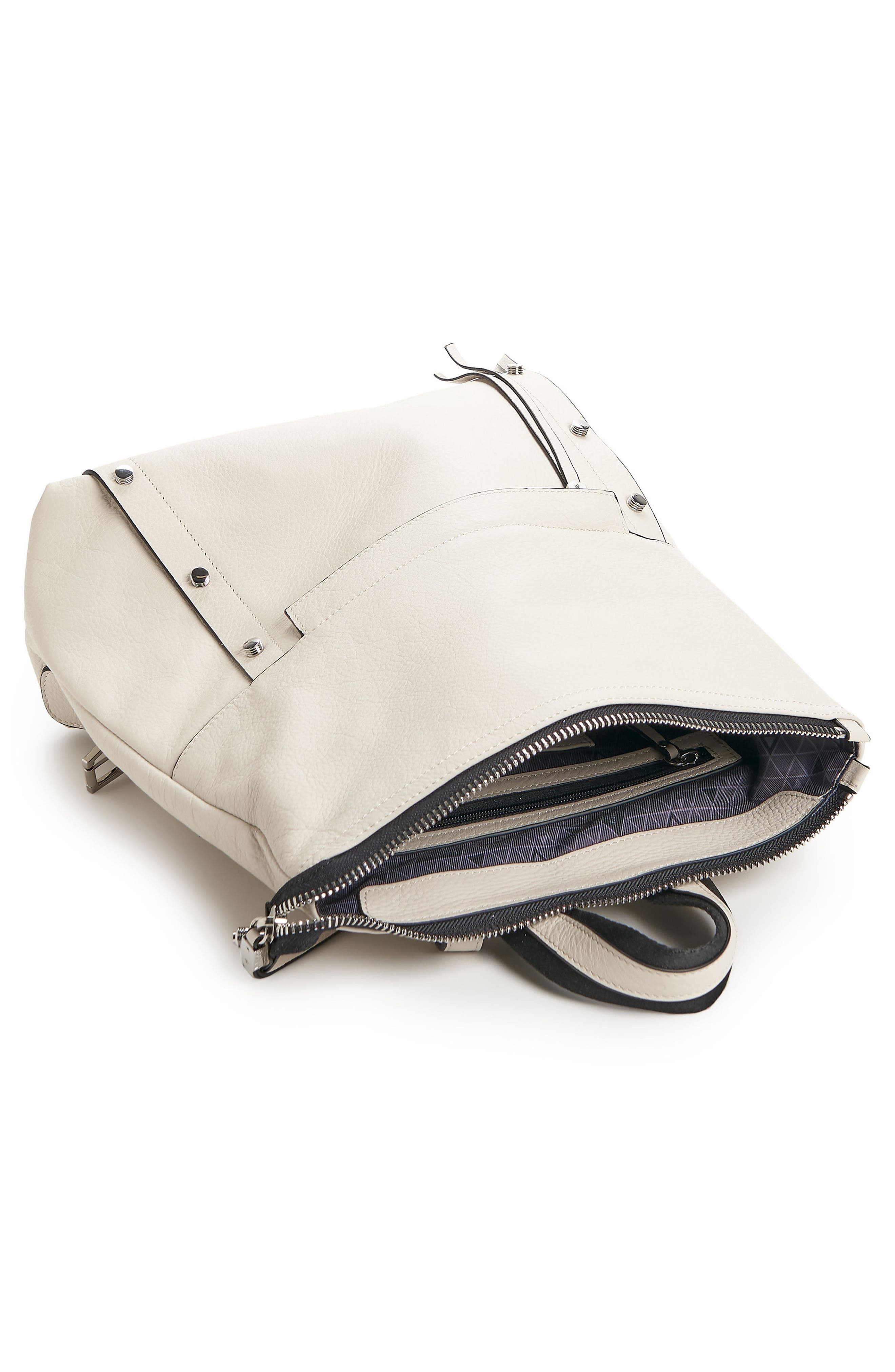 Noho Leather Backpack,                             Alternate thumbnail 3, color,                             CREAM