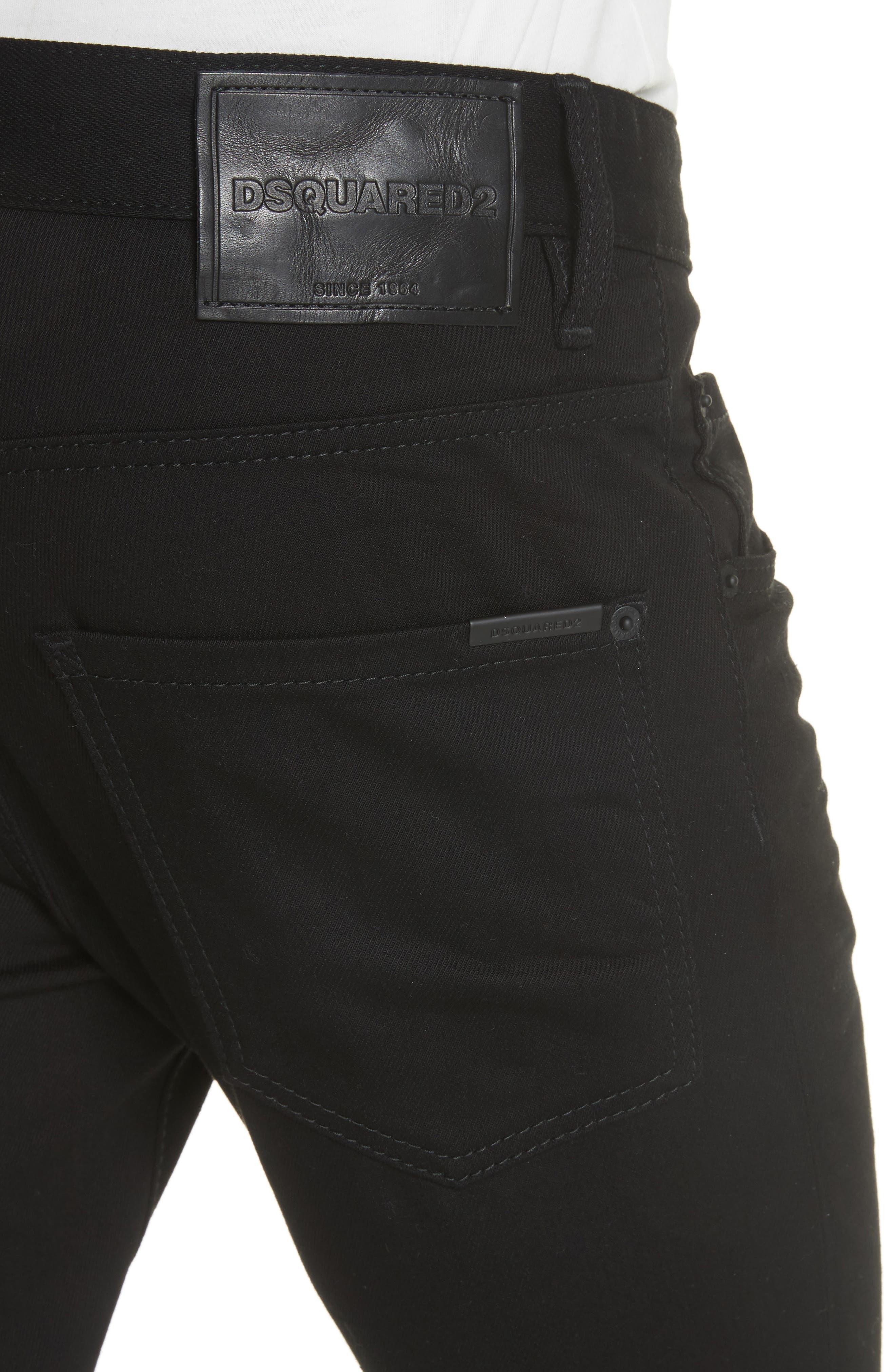 Black Bull Skater Jeans,                             Alternate thumbnail 4, color,                             BLACK