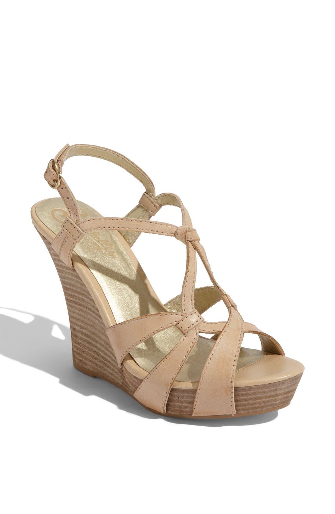 'Purr' Wedge Sandal,                             Main thumbnail 2, color,