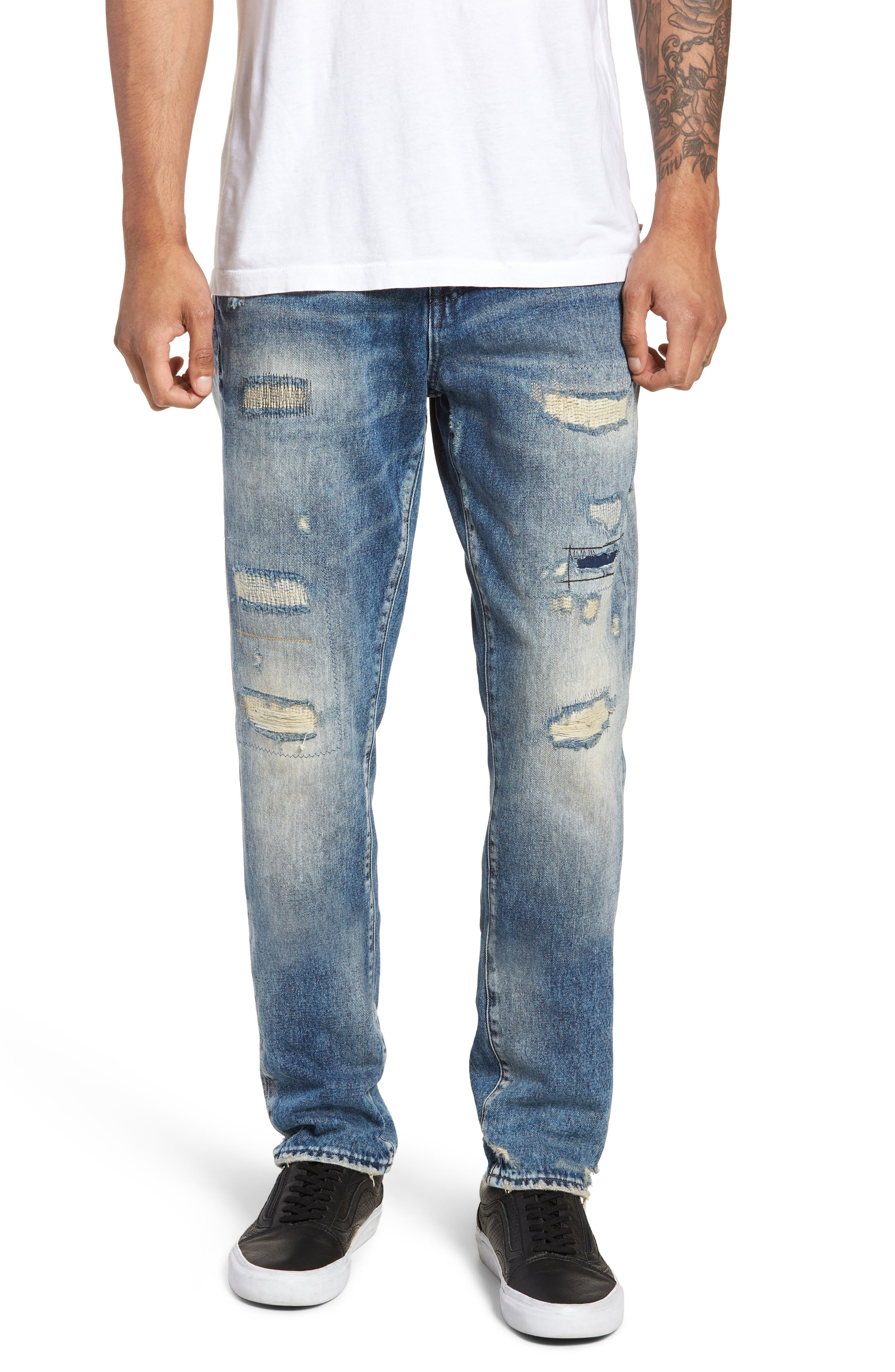 Demon Slim Straight Leg Jeans,                             Main thumbnail 1, color,                             MEXICO