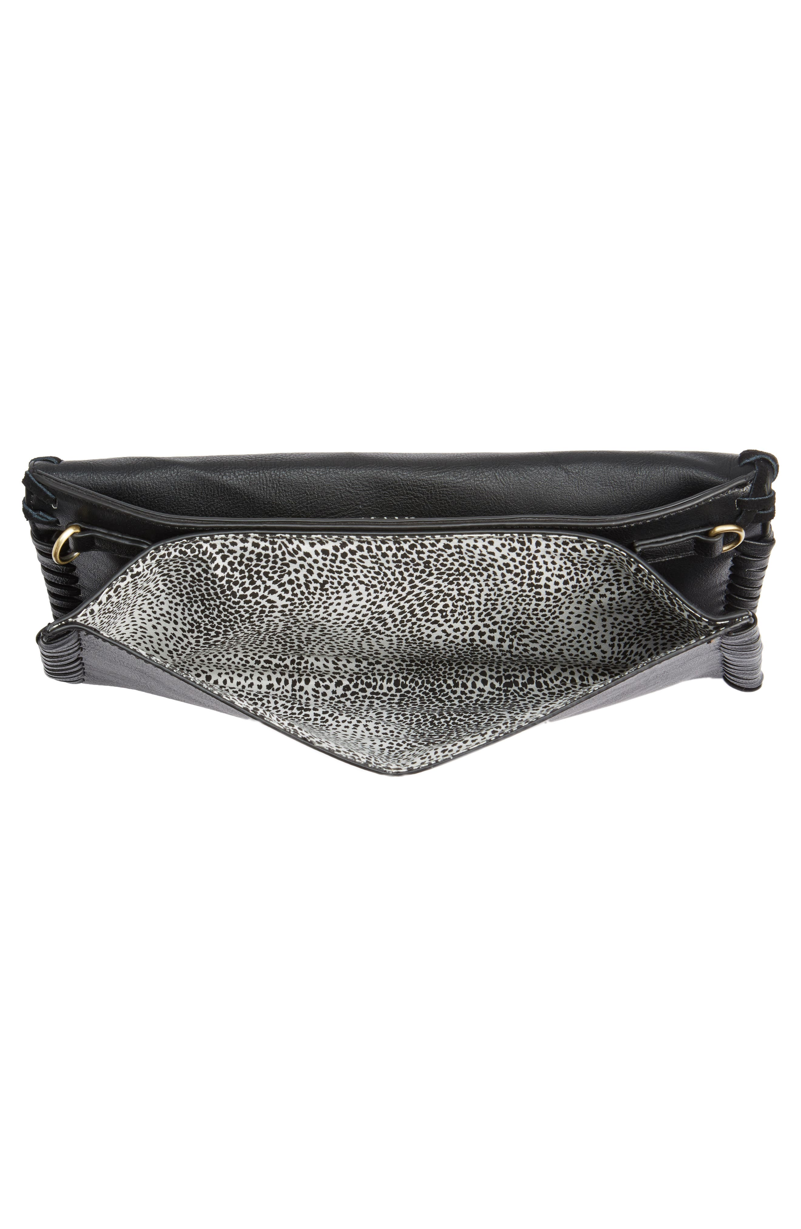 SOLE SOCIETY,                             Waverly Whipstitch Clutch,                             Alternate thumbnail 4, color,                             001