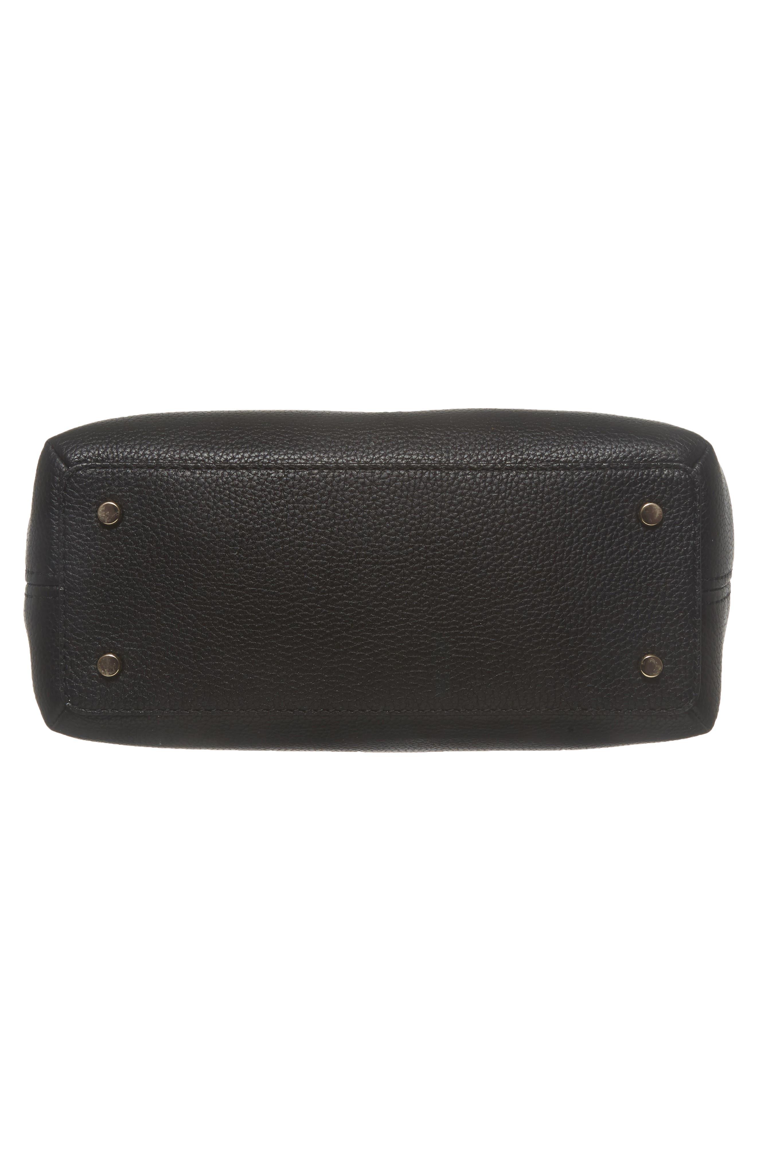 jackson street – small octavia leather satchel,                             Alternate thumbnail 6, color,                             001