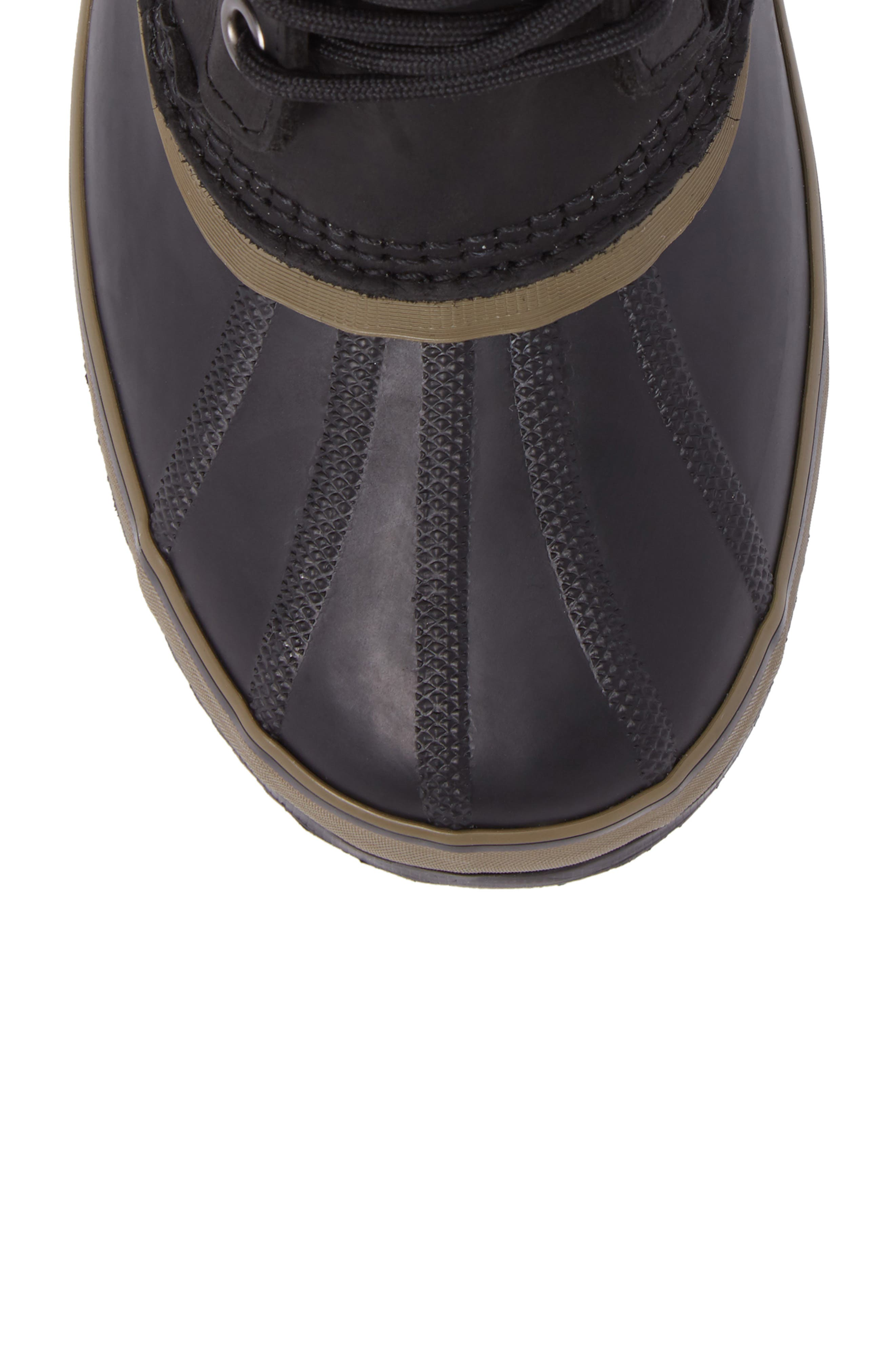1964 Premium T Snow Waterproof Boot,                             Alternate thumbnail 5, color,                             BLACK LEATHER