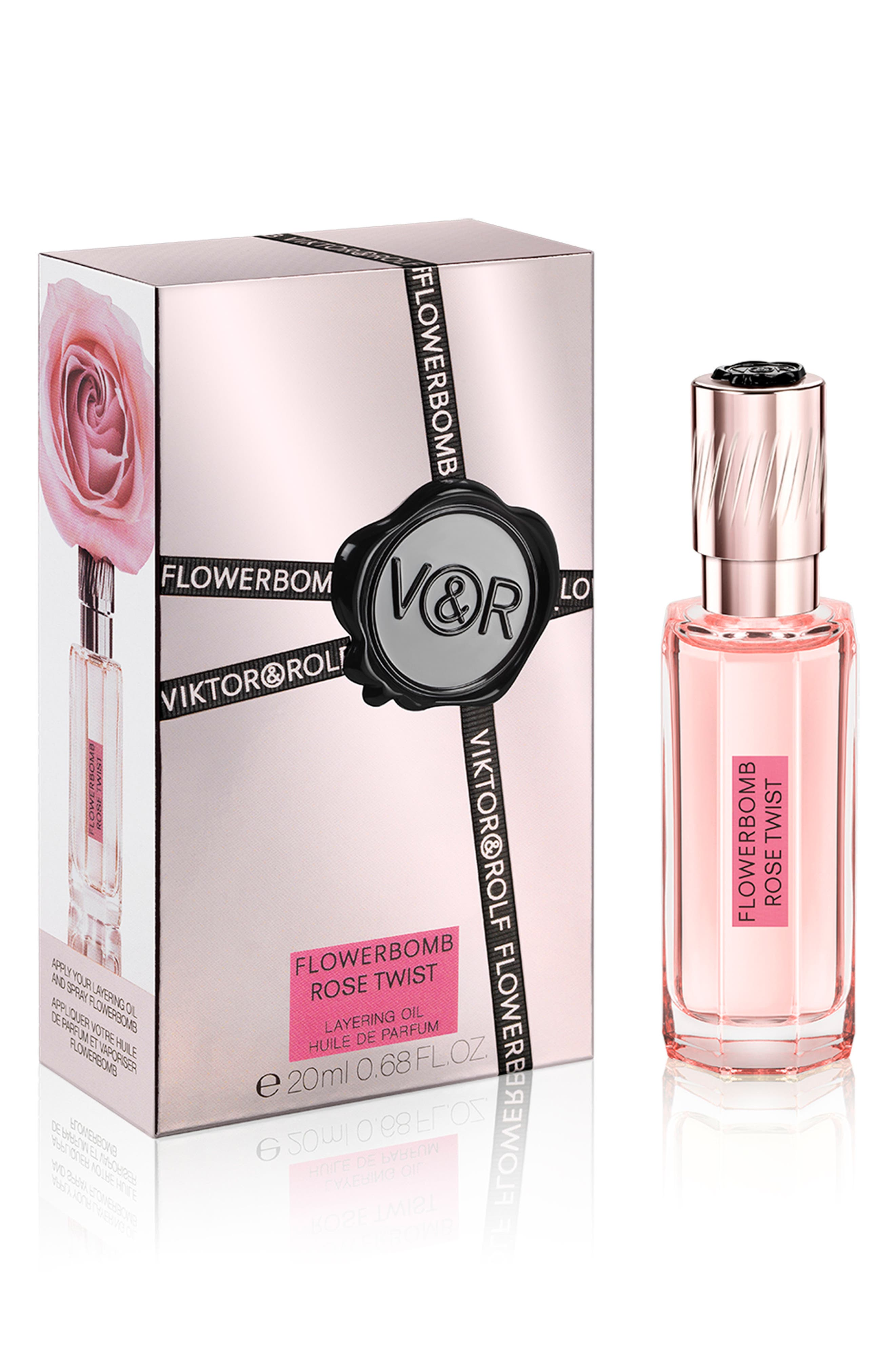 Flowerbomb Rose Twist Layering Oil,                             Main thumbnail 1, color,                             NO COLOR
