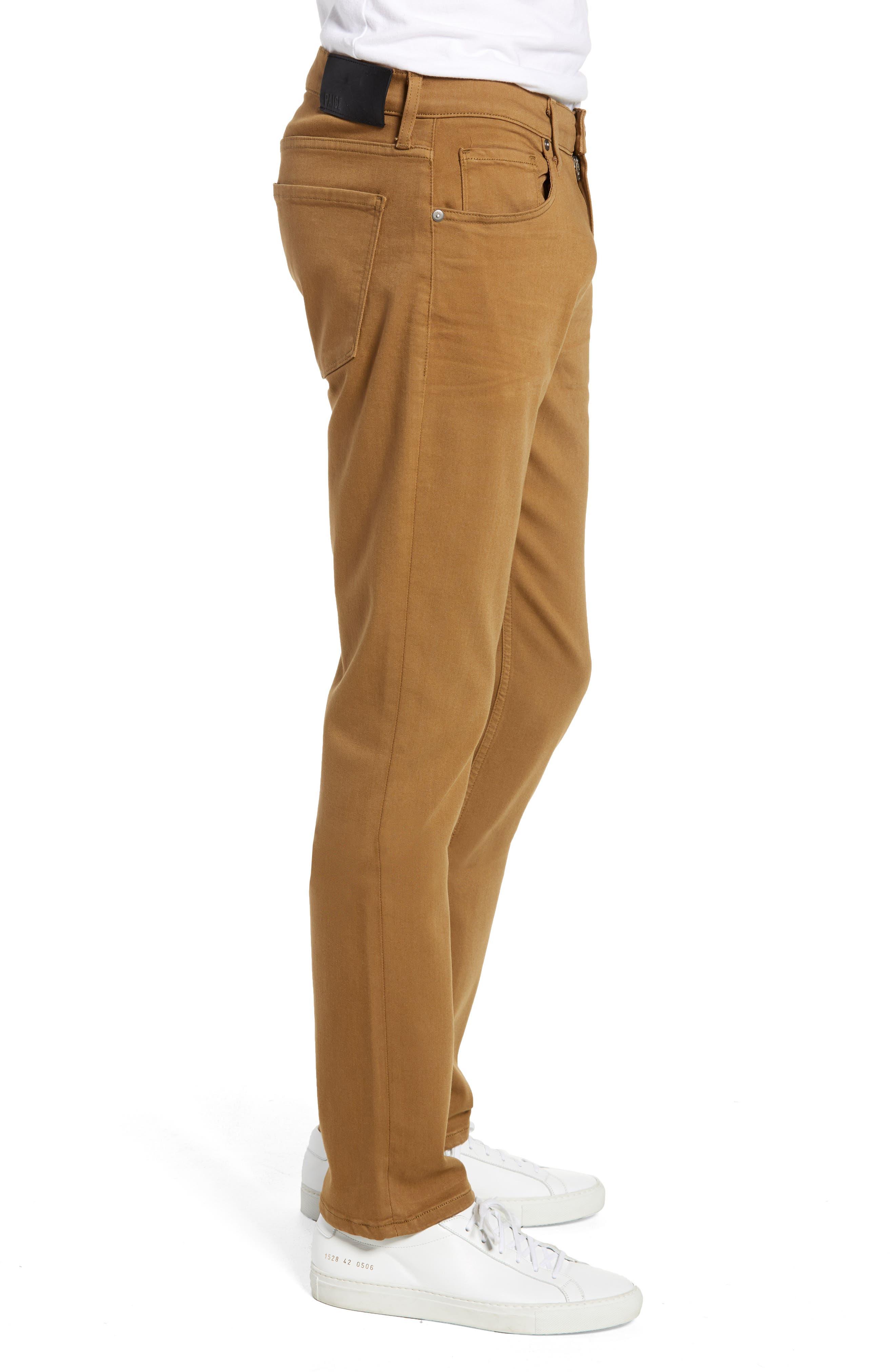 Transcend - Lennox Slim Fit Jeans,                             Alternate thumbnail 3, color,                             LAUREL TAN