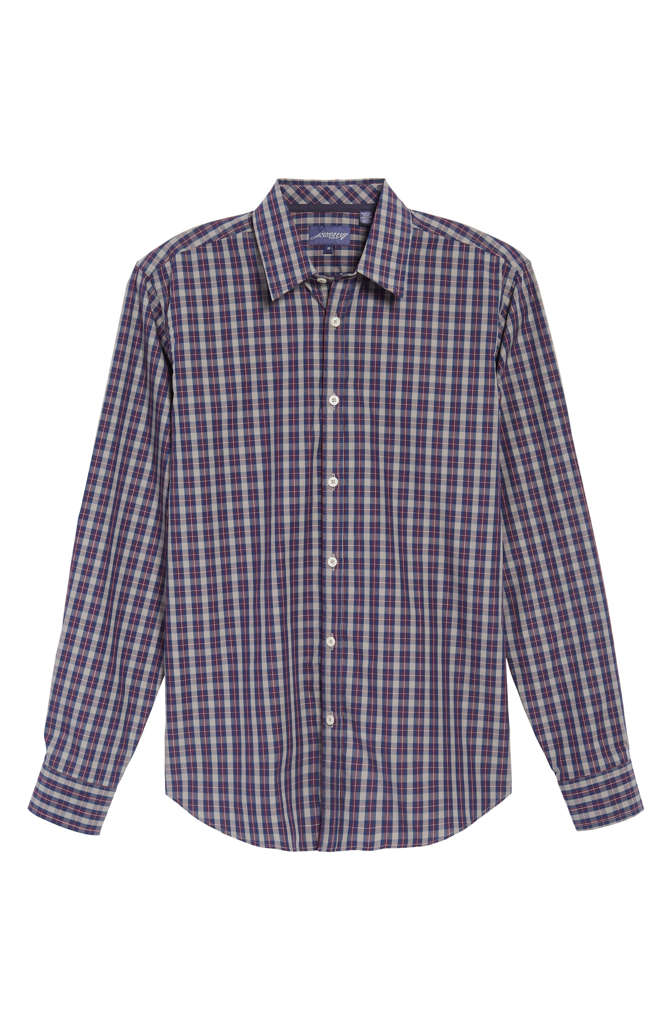 Regular Fit Plaid Sport Shirt,                             Alternate thumbnail 6, color,                             930