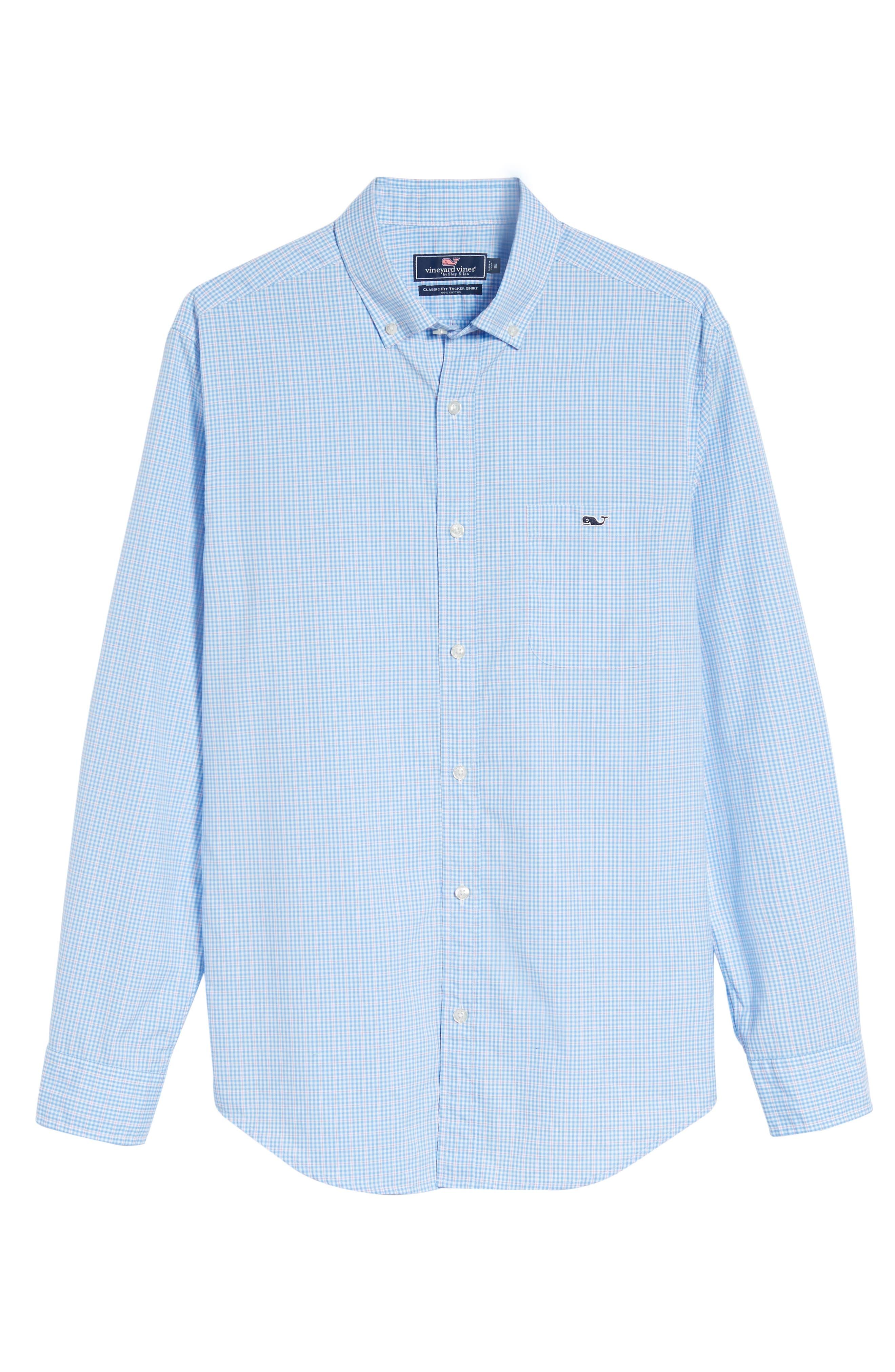 Stowaway Plaid Tucker Classic Fit Sport Shirt,                             Alternate thumbnail 6, color,                             484