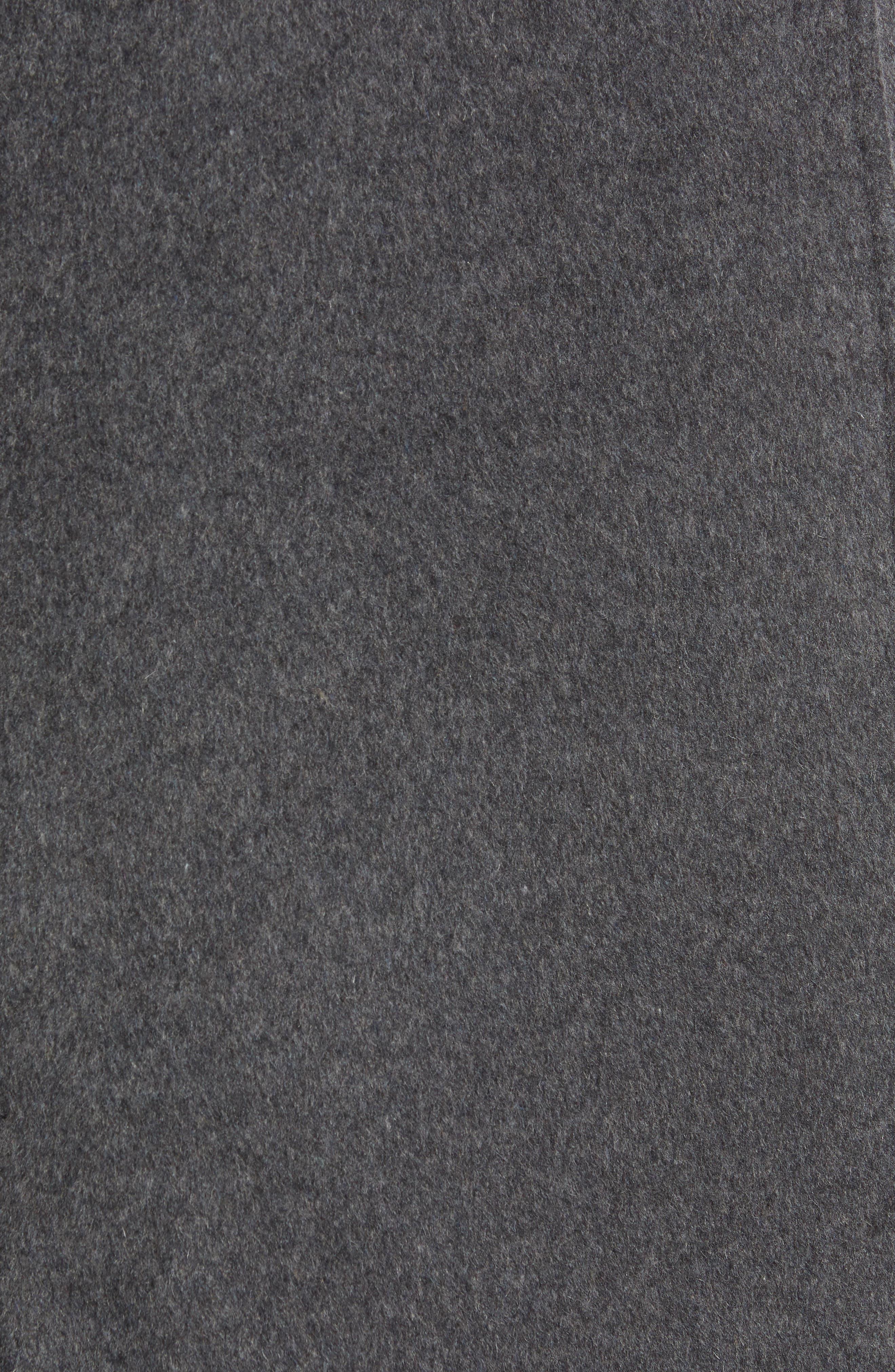 Shawl Collar Hooded Coat,                             Alternate thumbnail 7, color,                             CHARCOAL
