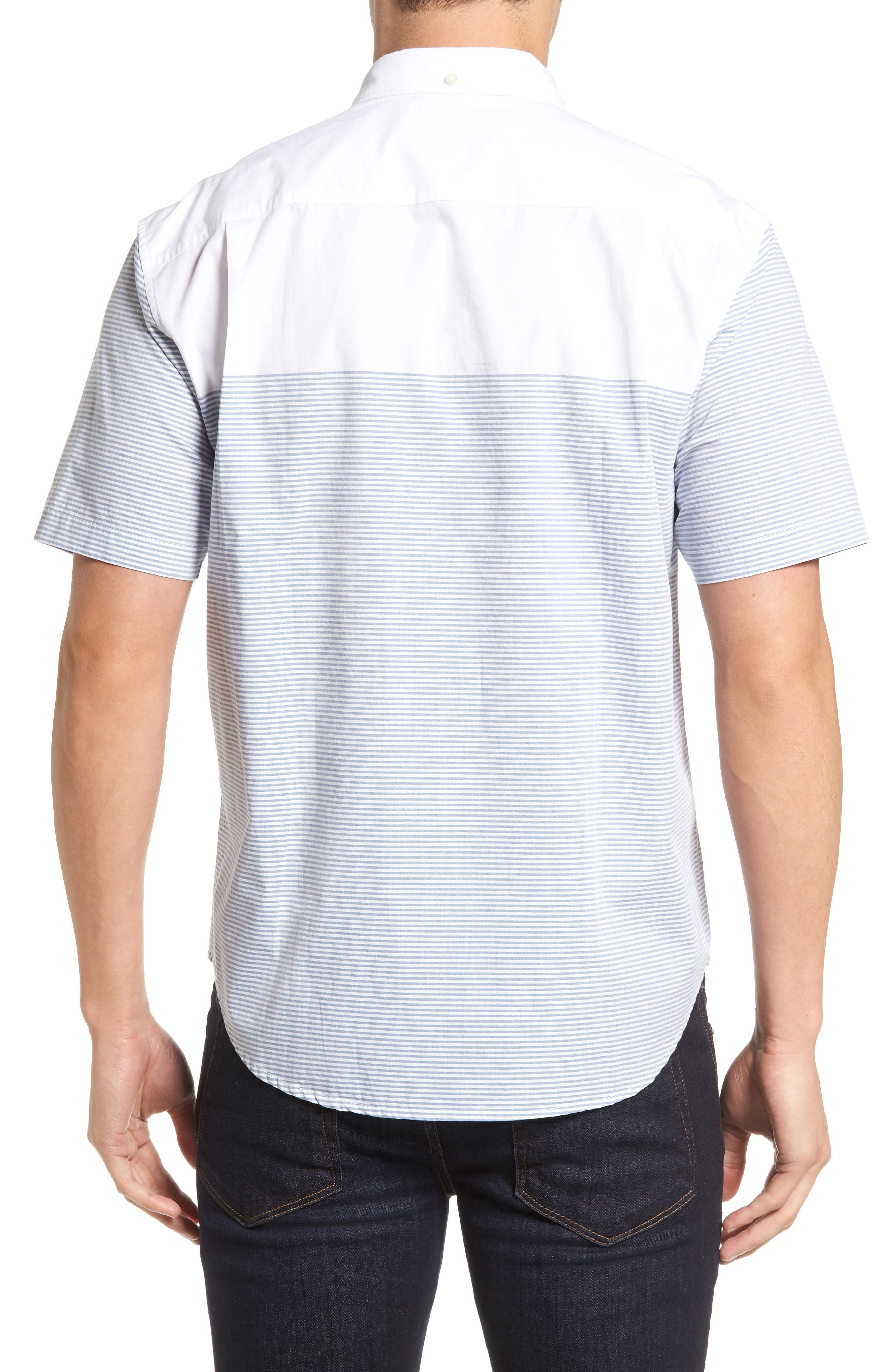 The Yachtsman Standard Fit Cotton Sport Shirt,                             Alternate thumbnail 2, color,                             100