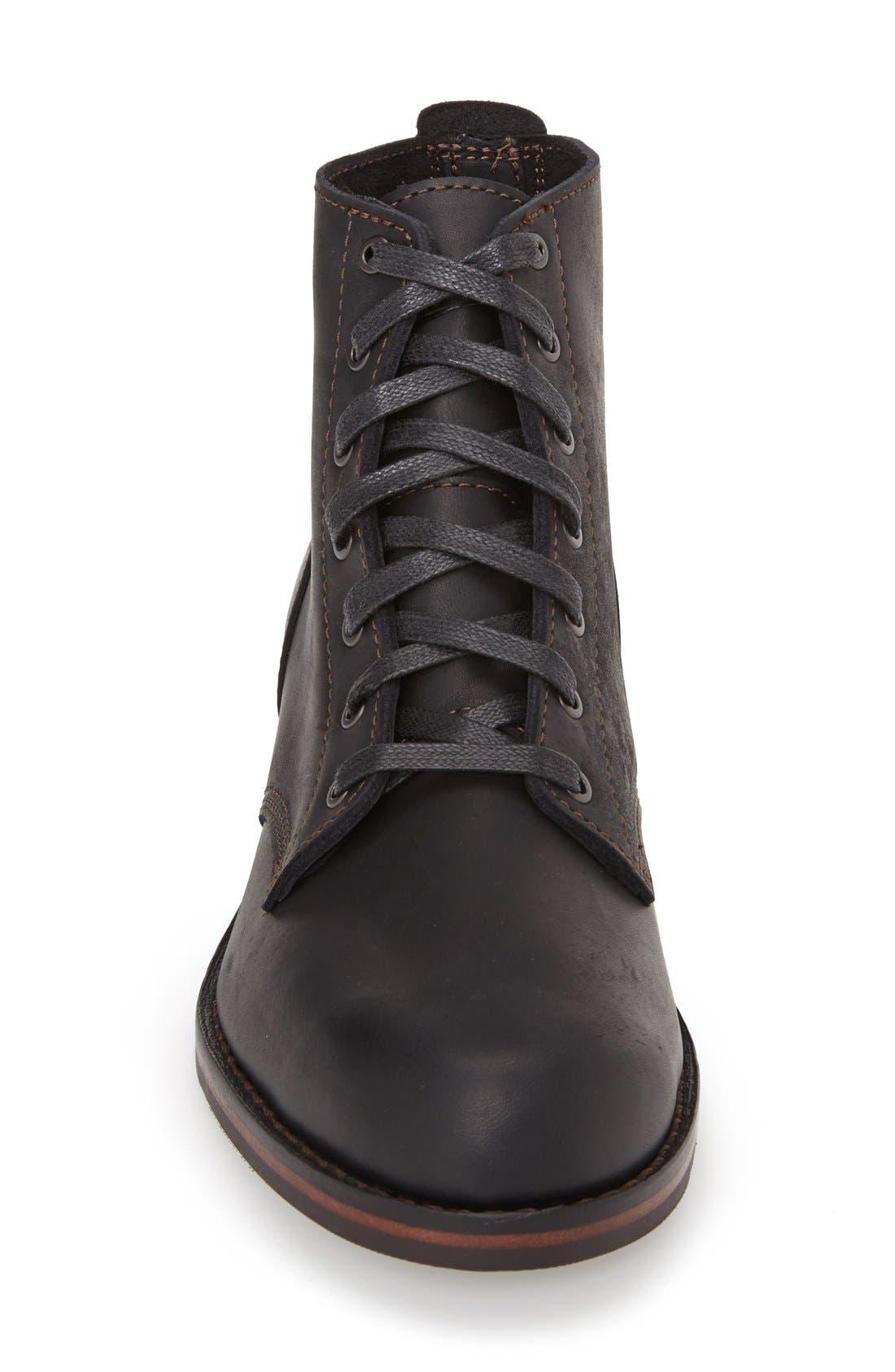 'Williams' Plain Toe Boot,                             Alternate thumbnail 4, color,                             001