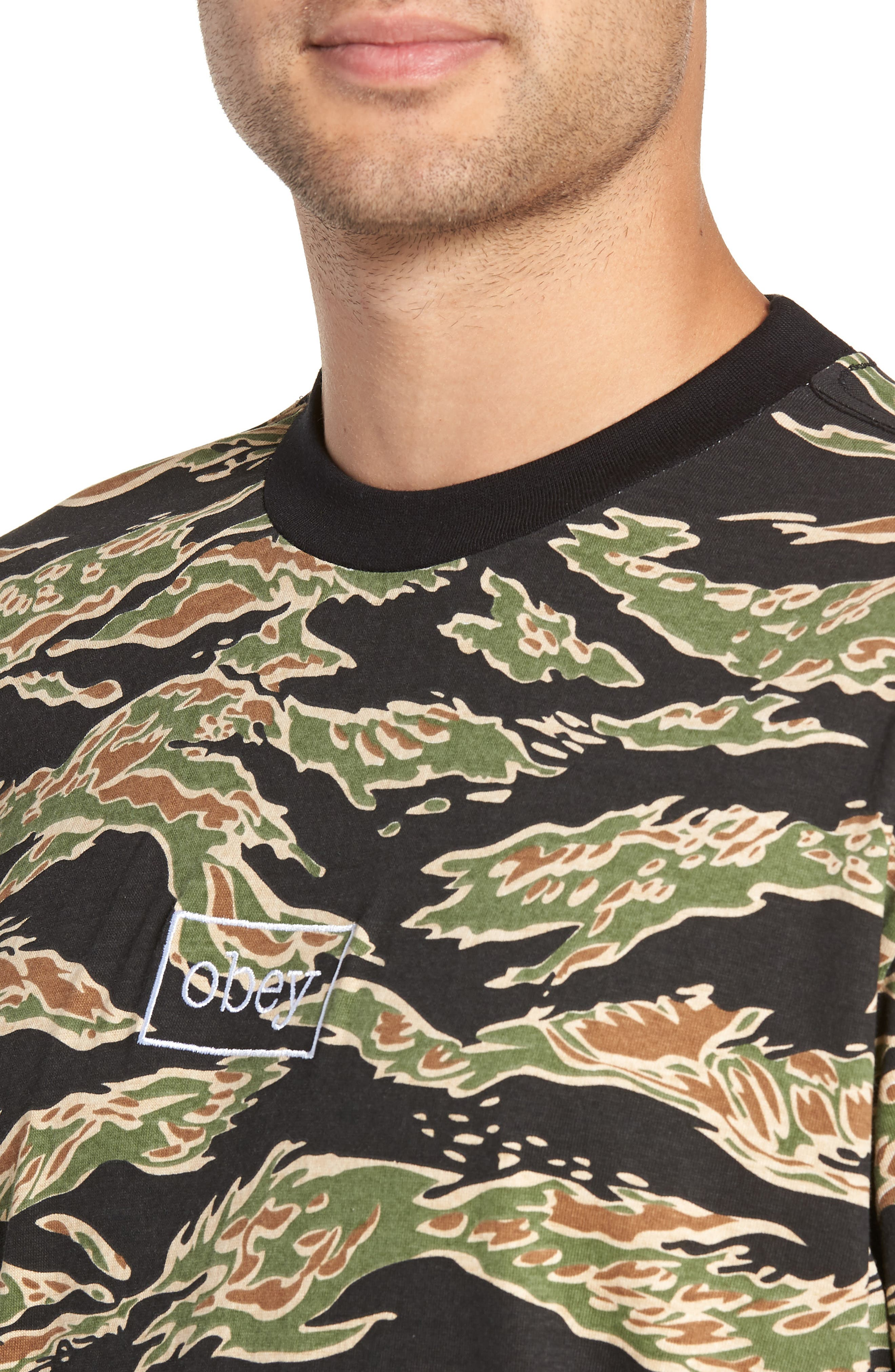 Flight Classic T-Shirt,                             Alternate thumbnail 4, color,                             TIGER CAMO
