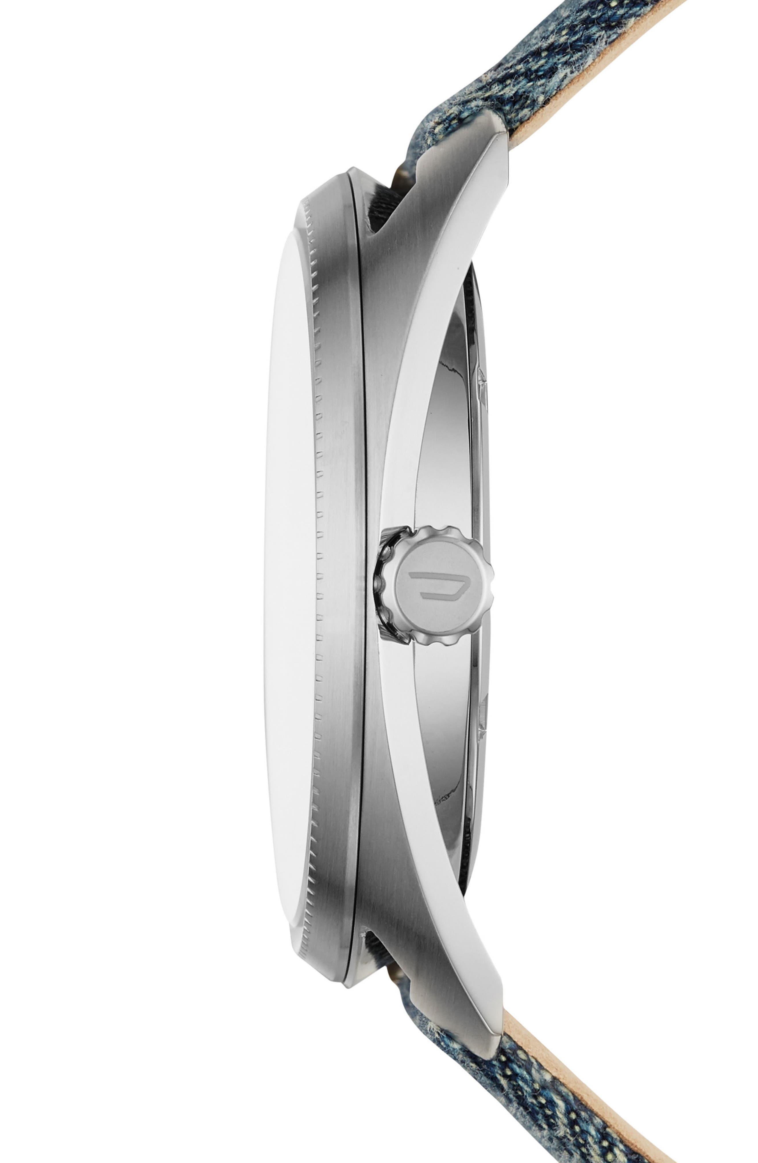 Fastbak Denim Strap Watch, 46mm x 52mm,                             Alternate thumbnail 2, color,                             400