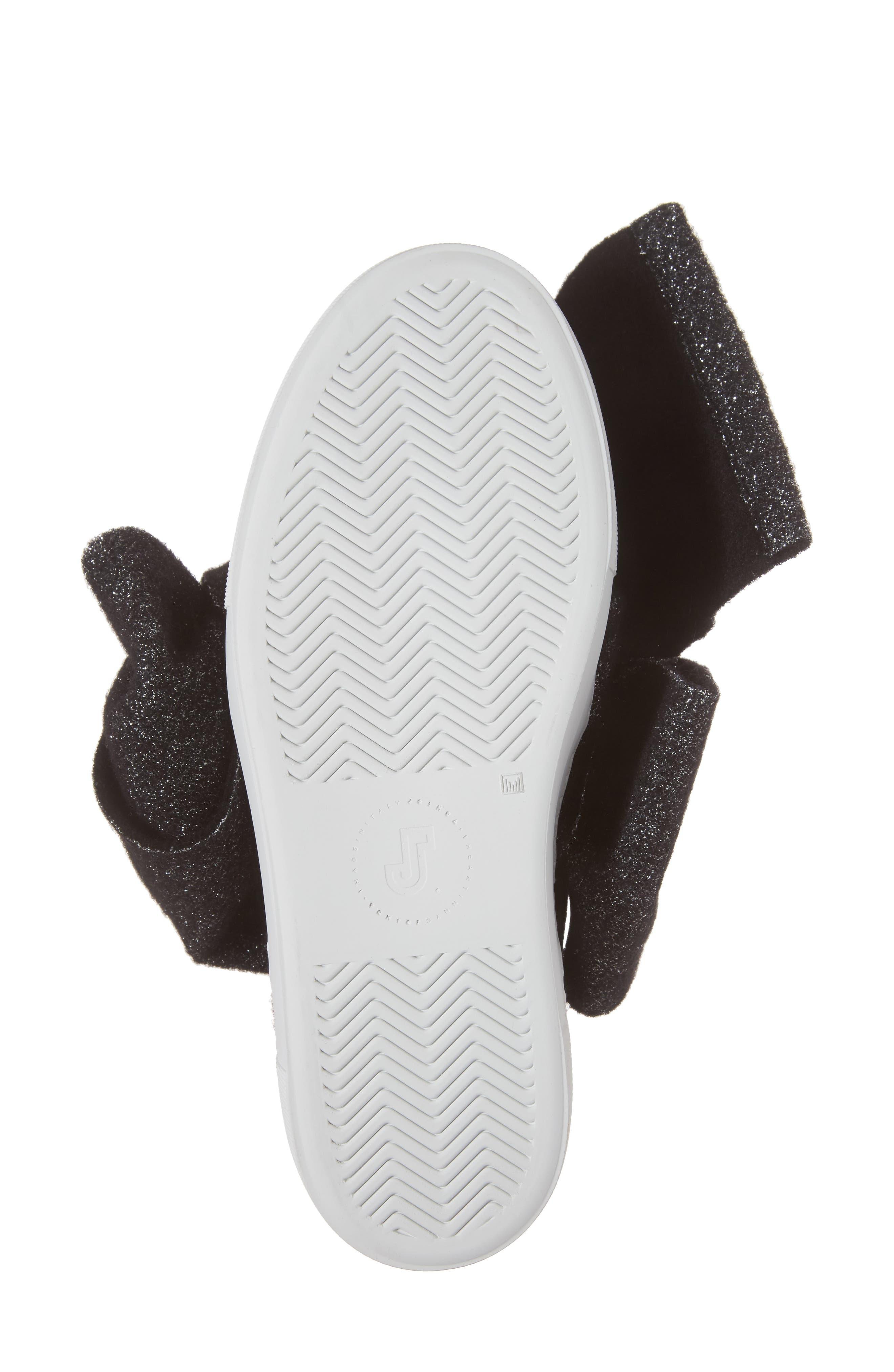 Bow Slip-On Sneaker,                             Alternate thumbnail 6, color,                             001