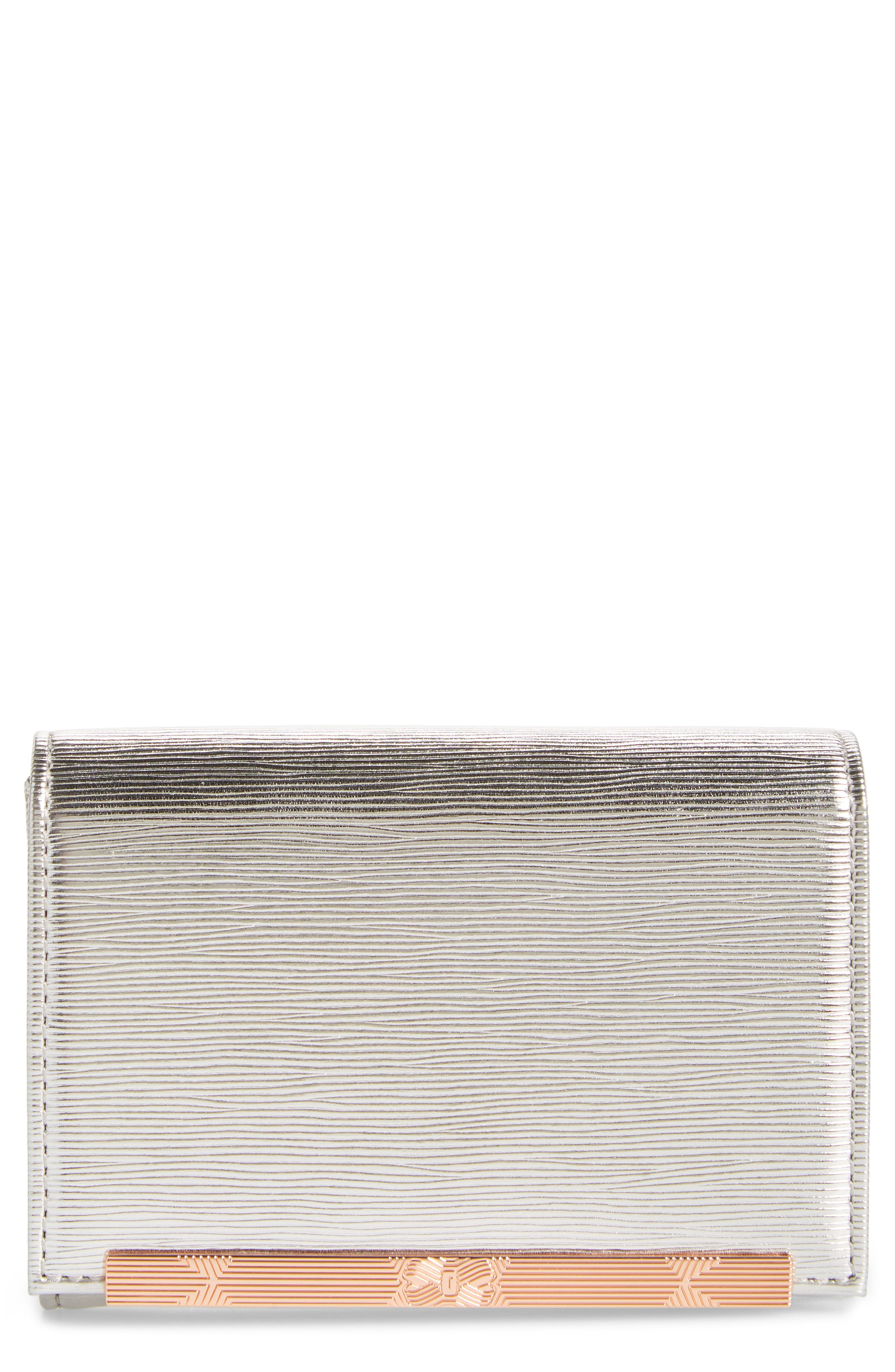 Valenta Plissé Leather Mini Wallet,                             Main thumbnail 2, color,
