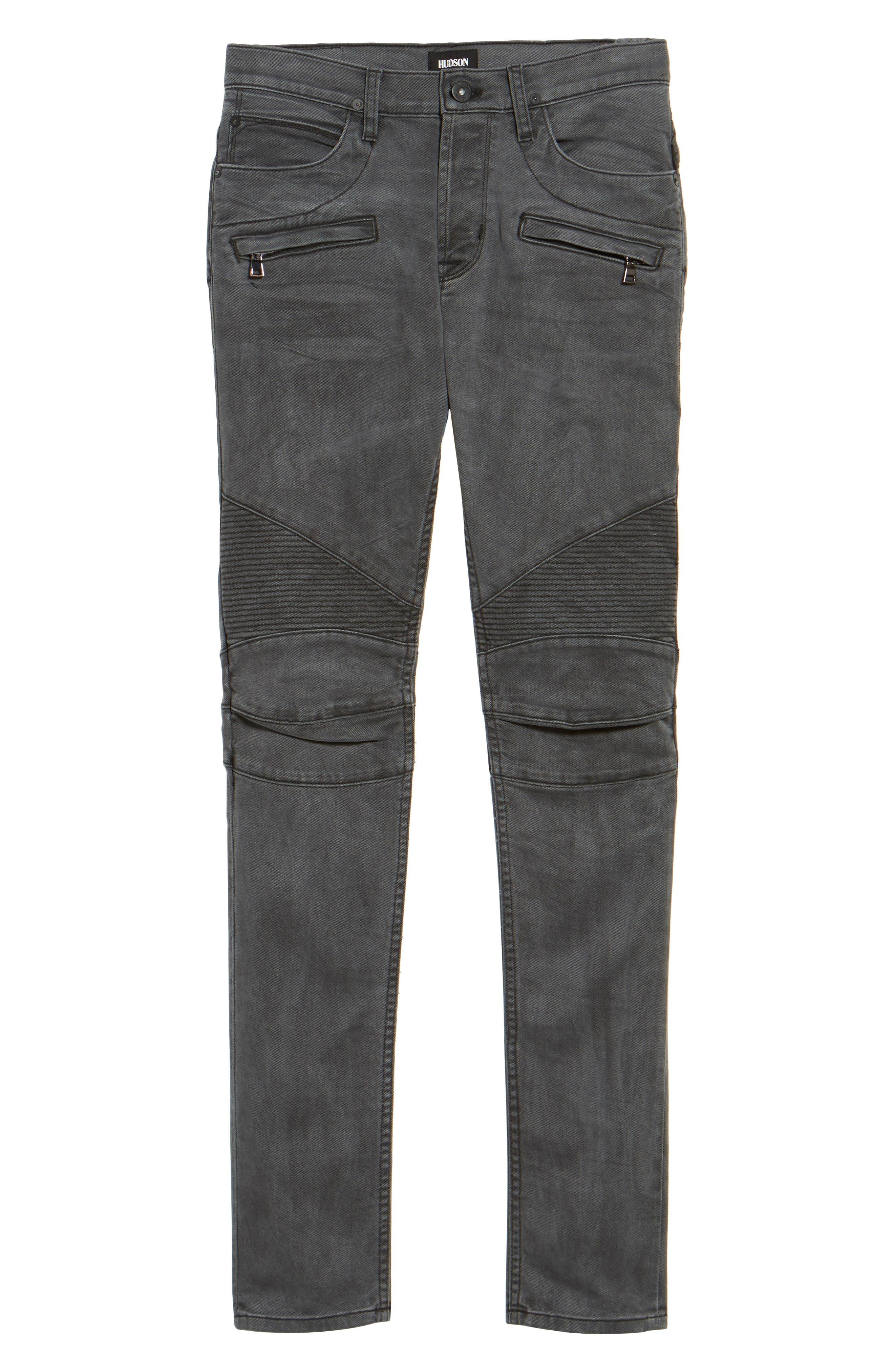 Blinder Biker Moto Skinny Fit Jeans,                             Alternate thumbnail 6, color,                             MIXTAPE