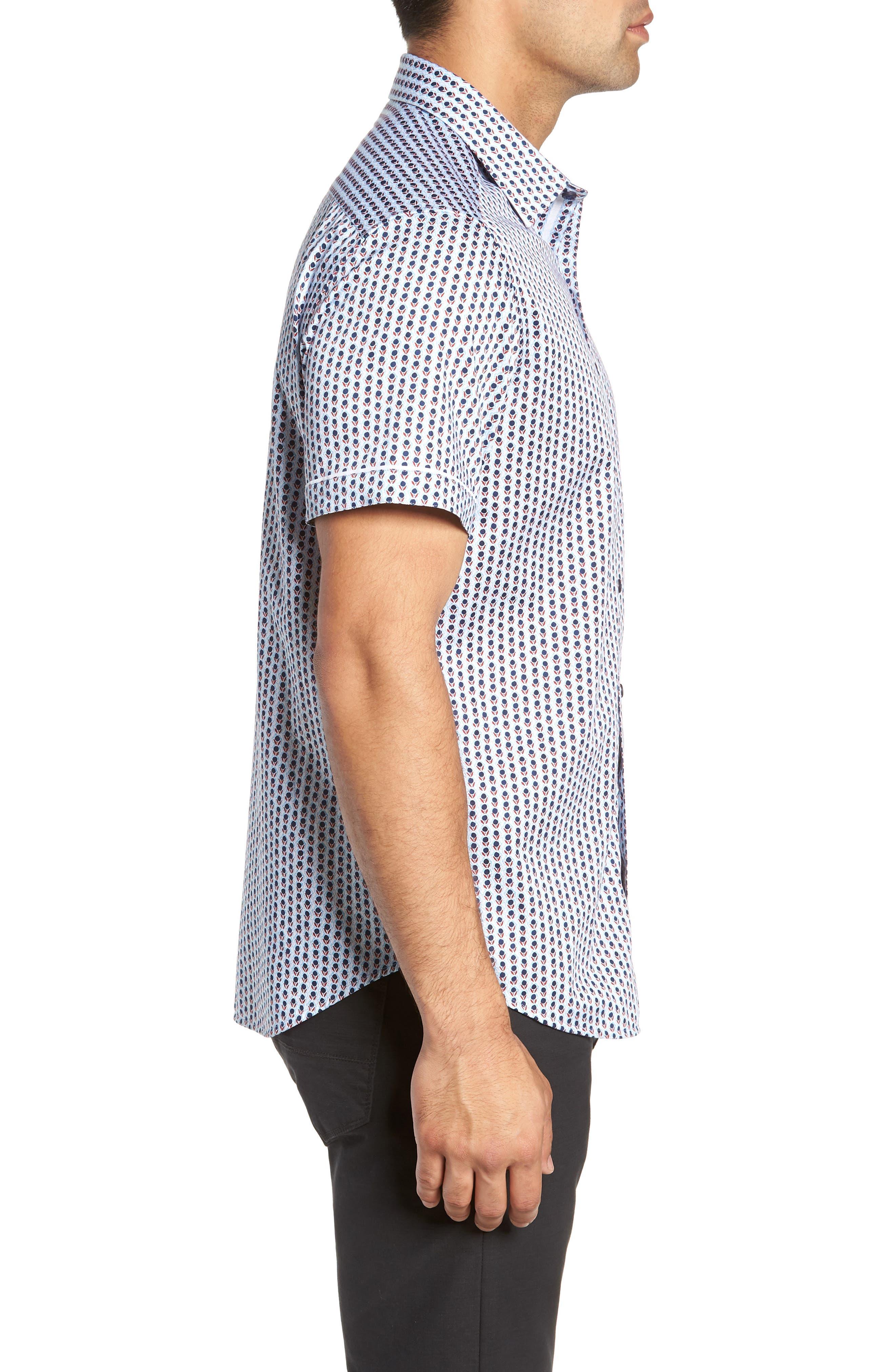 Westward Classic Fit Stripe Sport Shirt,                             Alternate thumbnail 4, color,                             CREAM