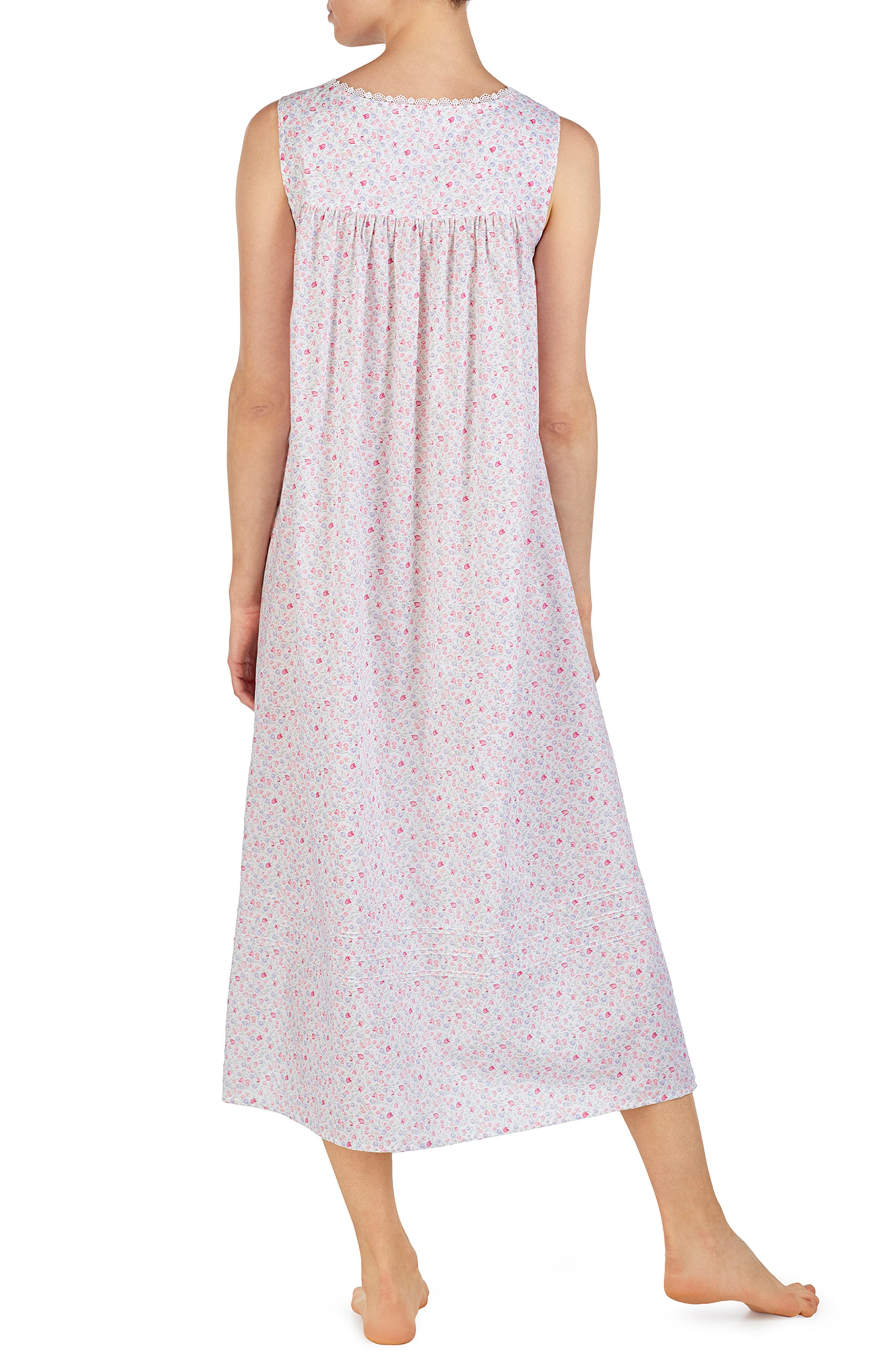 EILEEN WEST,                             Cotton Lawn Nightgown,                             Alternate thumbnail 2, color,                             MULTI DITSY