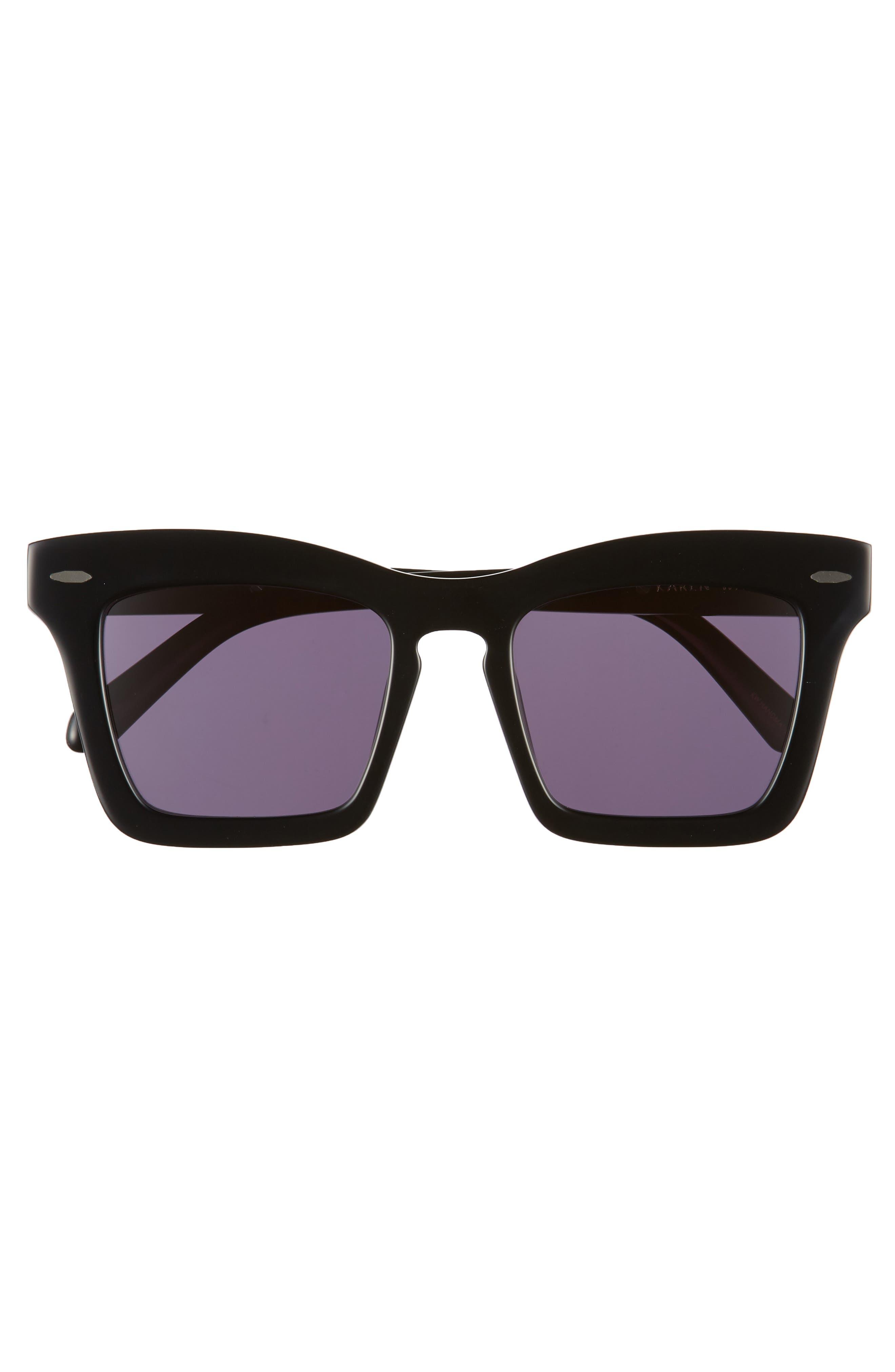 Banks 51mm Rectangular Sunglasses,                             Alternate thumbnail 3, color,                             BLACK