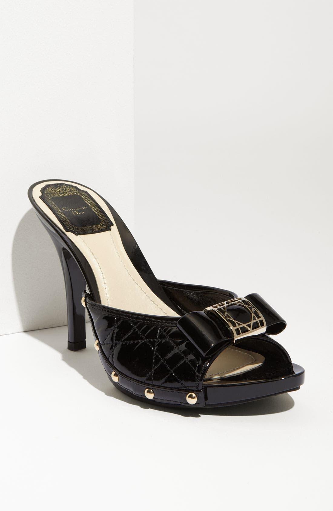'Cannage' Slide Sandal, Main, color, 001