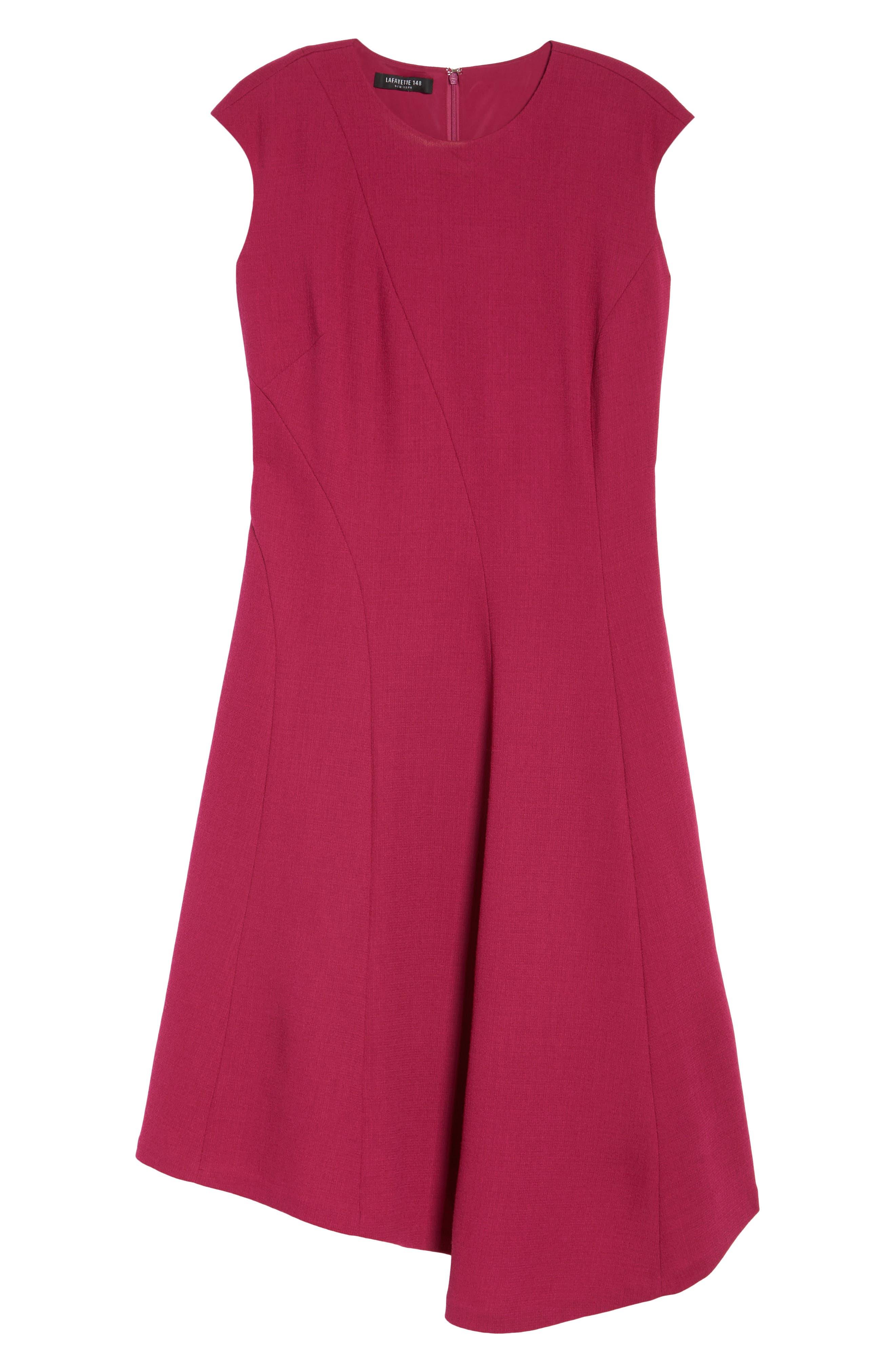 Aveena Wool Interlock Dress,                             Alternate thumbnail 6, color,                             651