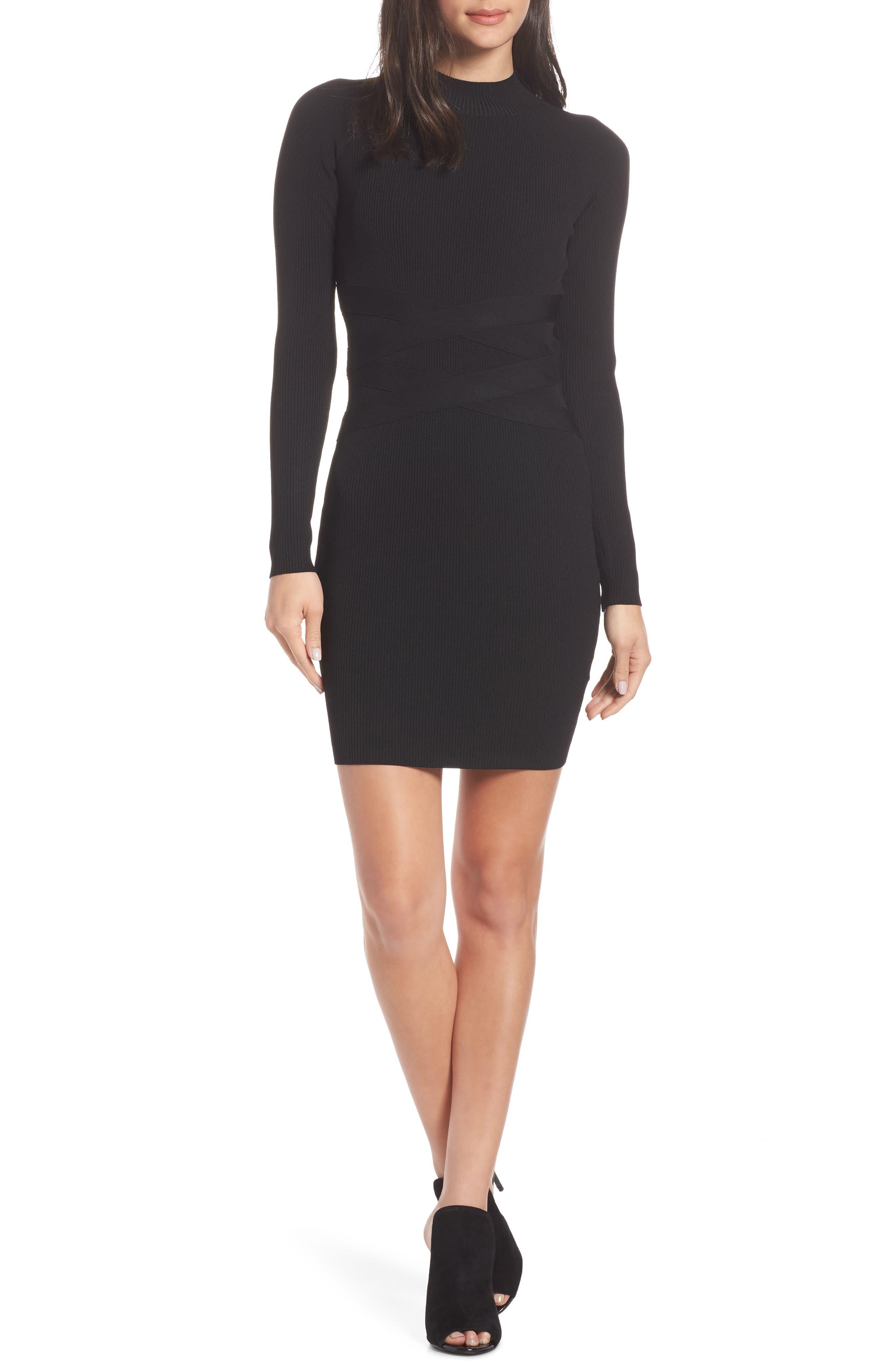 Ali & Jay Down The Road Sweater Dress, Black