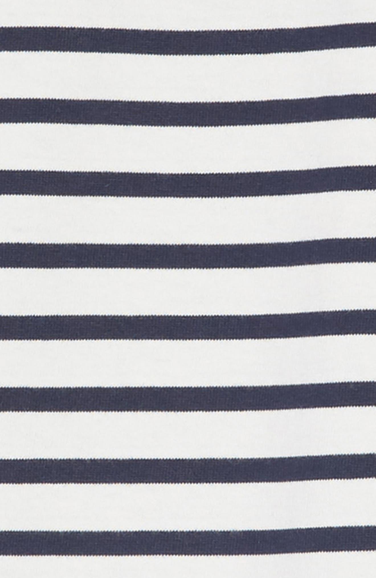 Drop Waist Dress,                             Alternate thumbnail 3, color,                             NAVY AND WHITE STRIPE