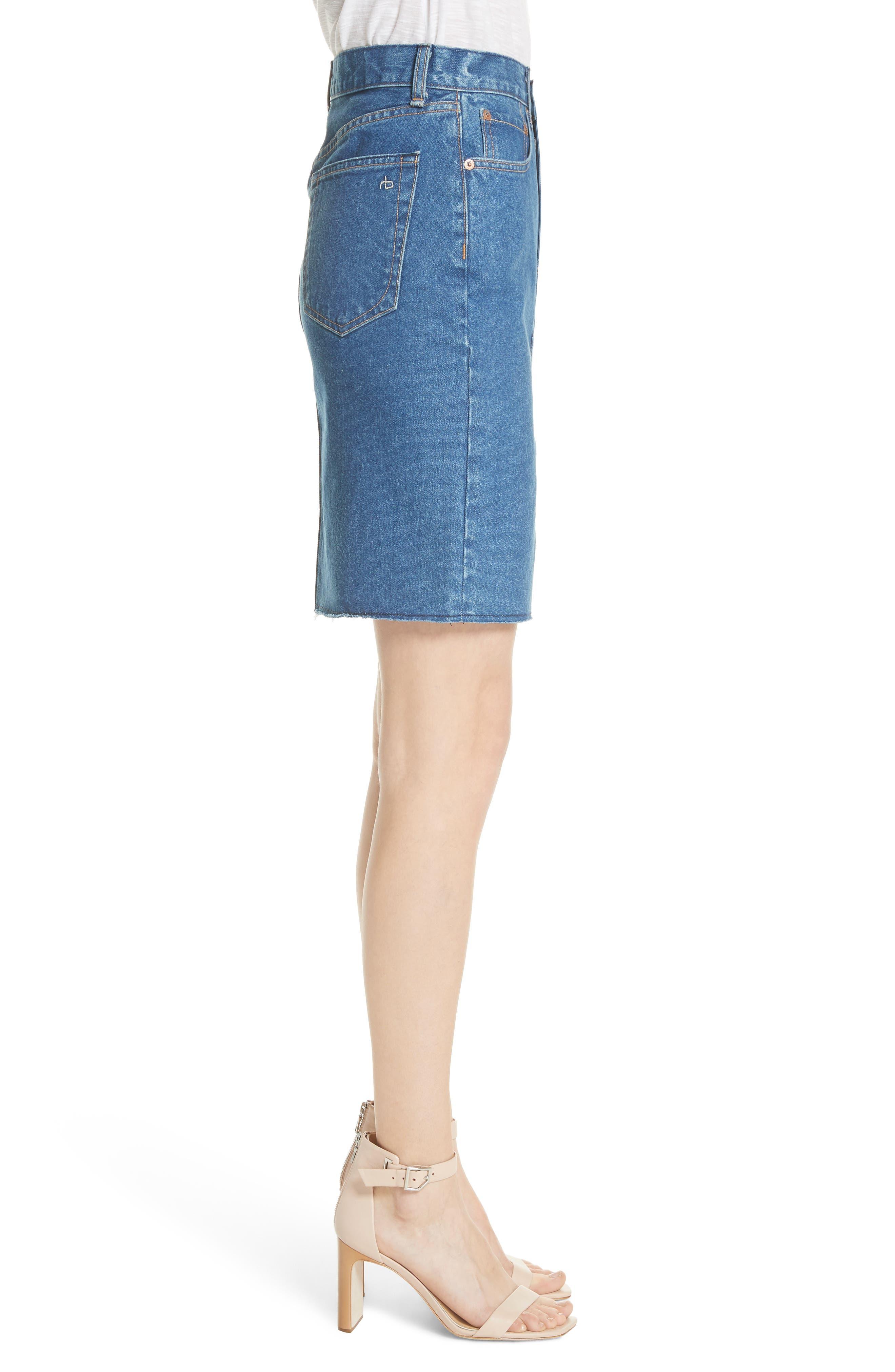 Suji Denim Skirt,                             Alternate thumbnail 3, color,                             401