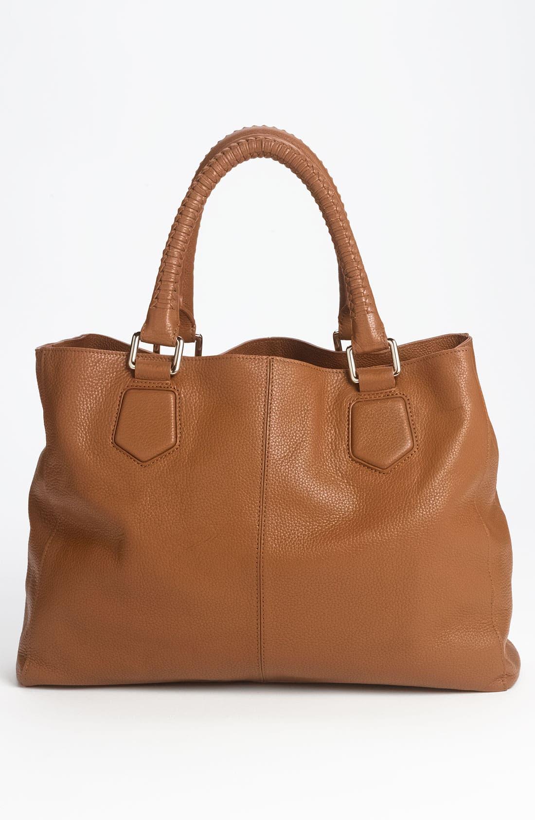 'Mila' Leather Shoulder Bag,                             Alternate thumbnail 3, color,                             212