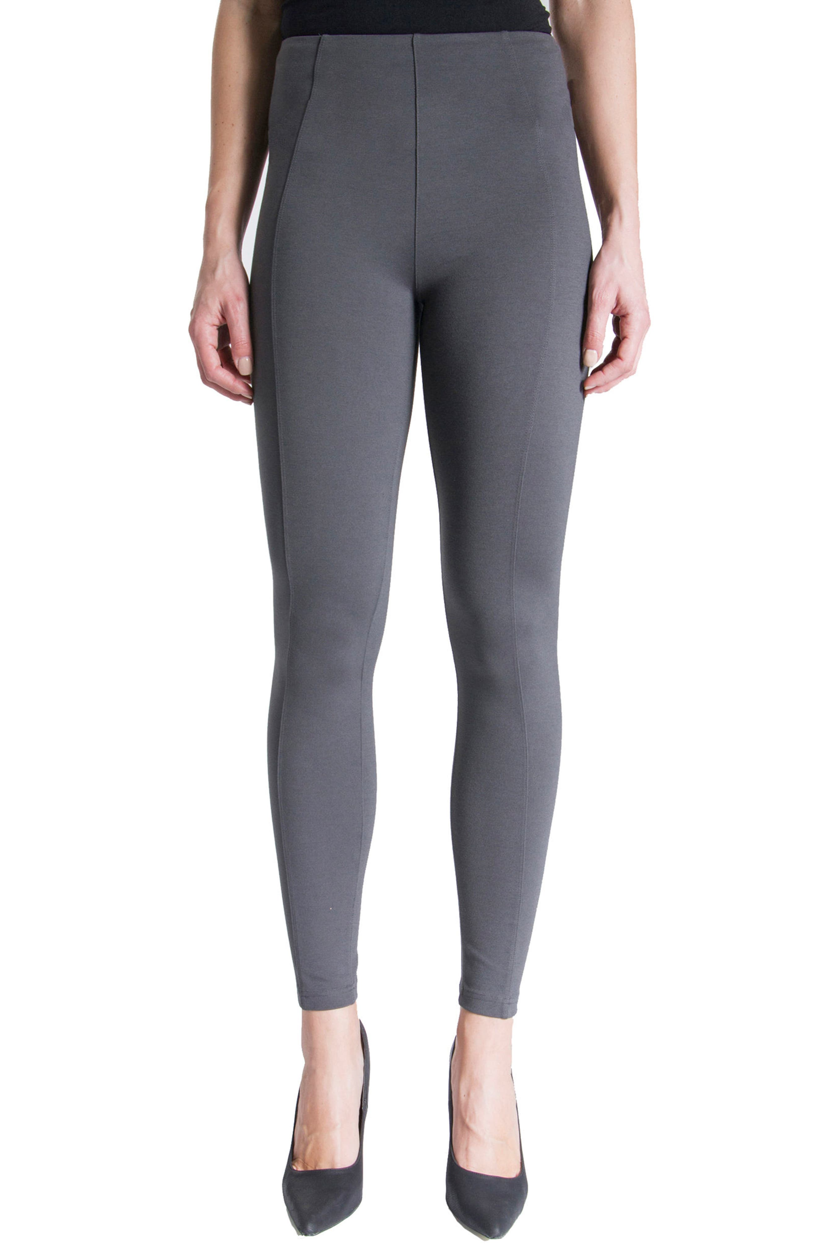 LIVERPOOL Reese Stretch Knit Leggings, Main, color, MAGNET