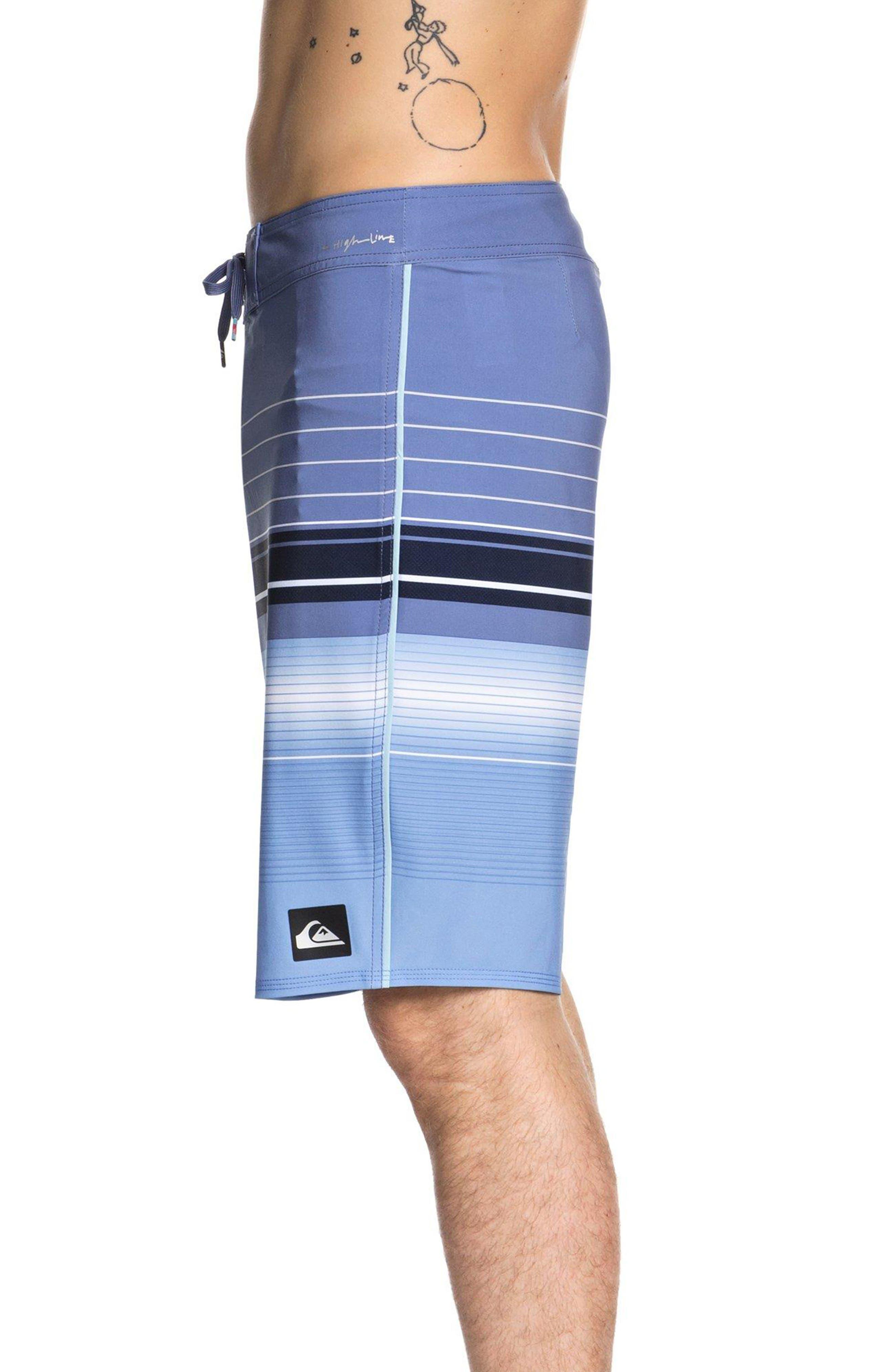 Highline Swell Vision Board Shorts,                             Alternate thumbnail 3, color,                             BIJOU BLUE