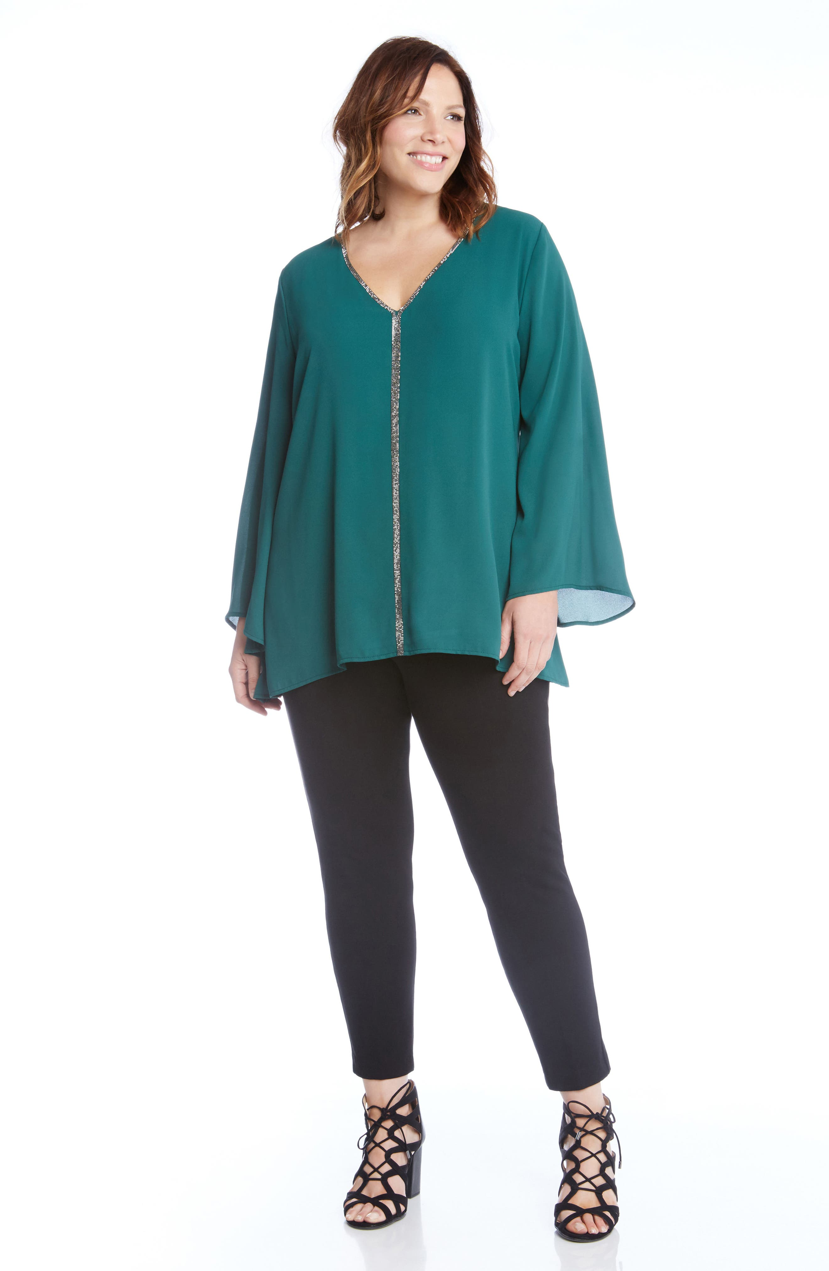 Sparkle Bell Sleeve Top,                             Alternate thumbnail 5, color,