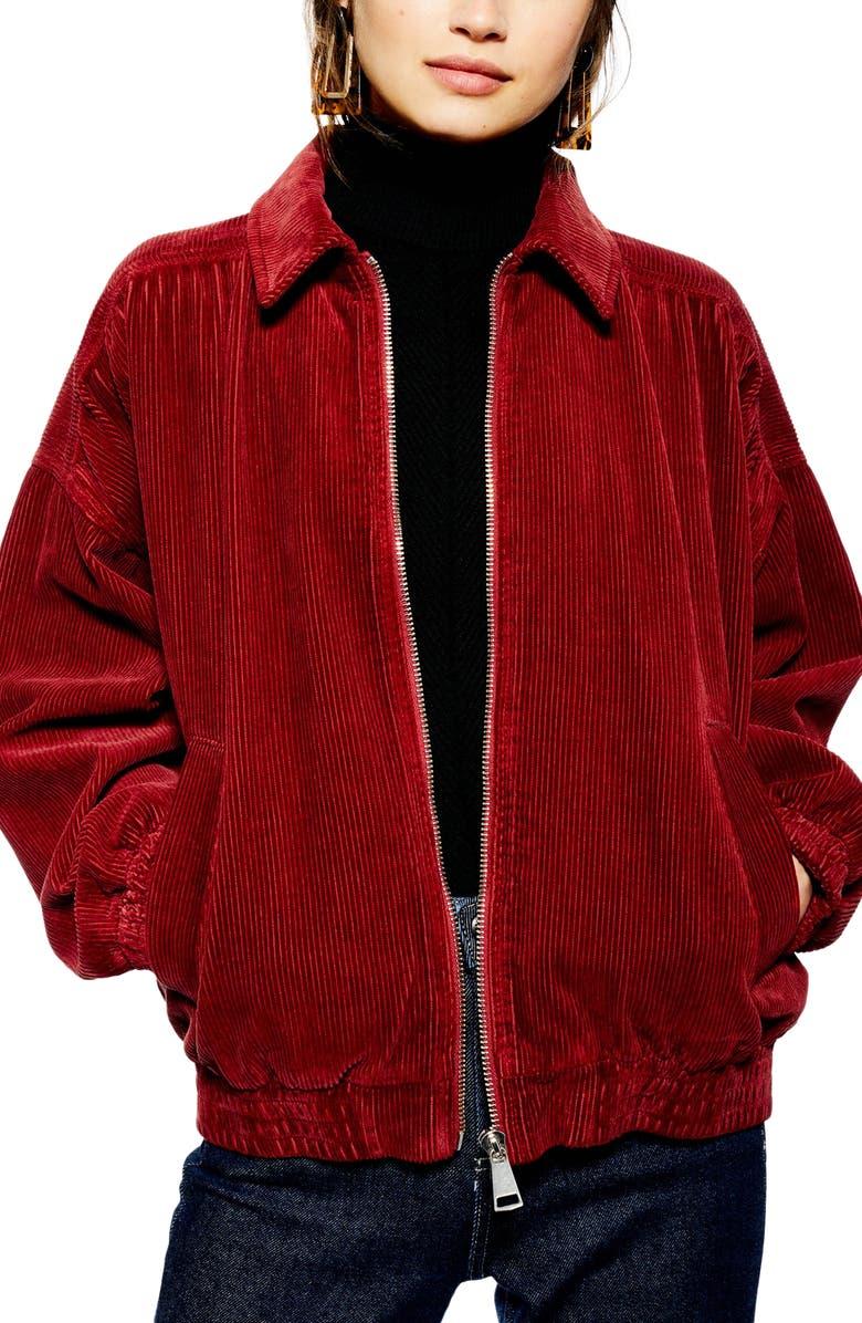 Jumbo Corduroy Jacket,                         Main,                         color, RUST