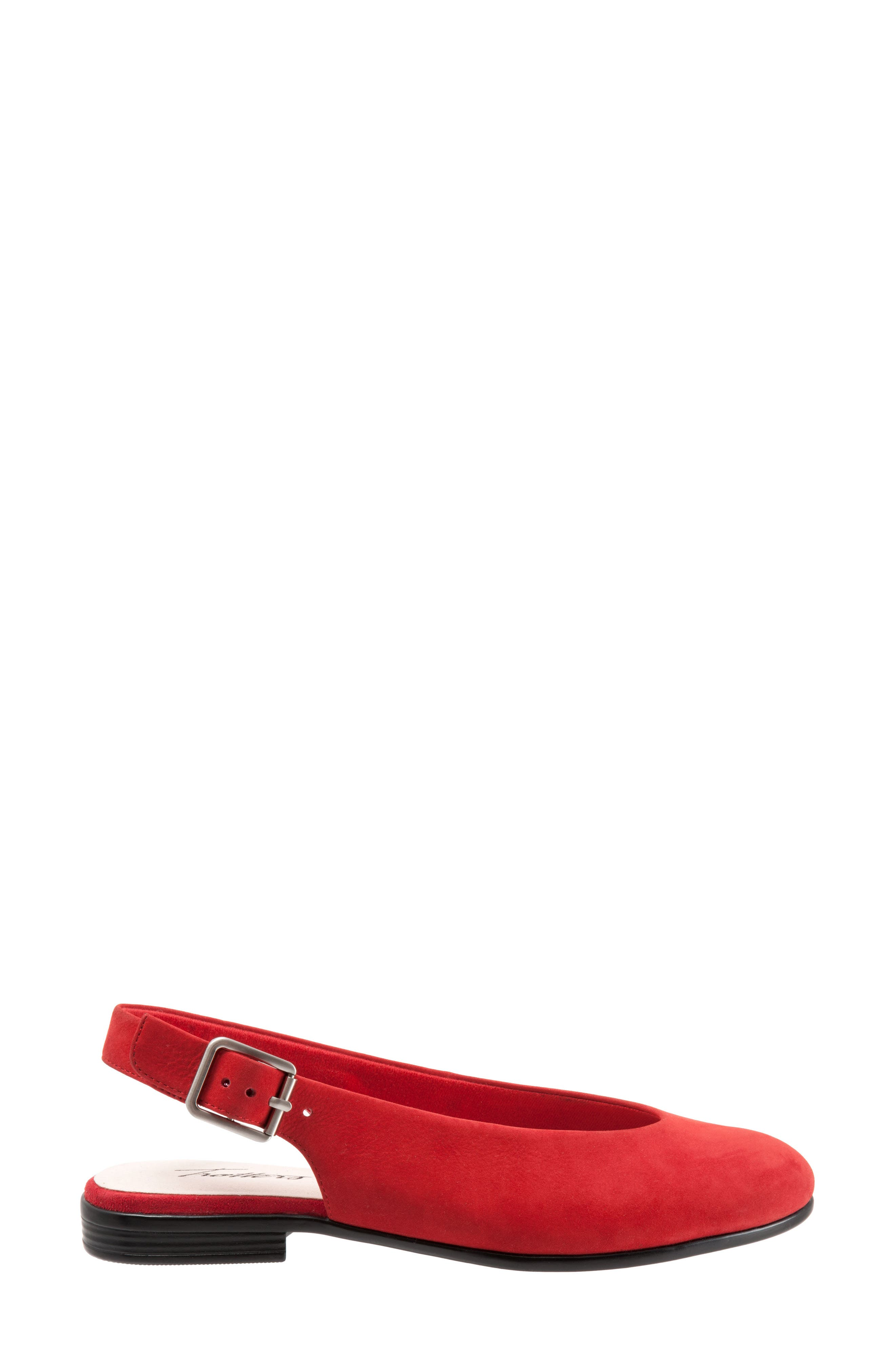 Alice Flat,                             Alternate thumbnail 3, color,                             RED SUEDE