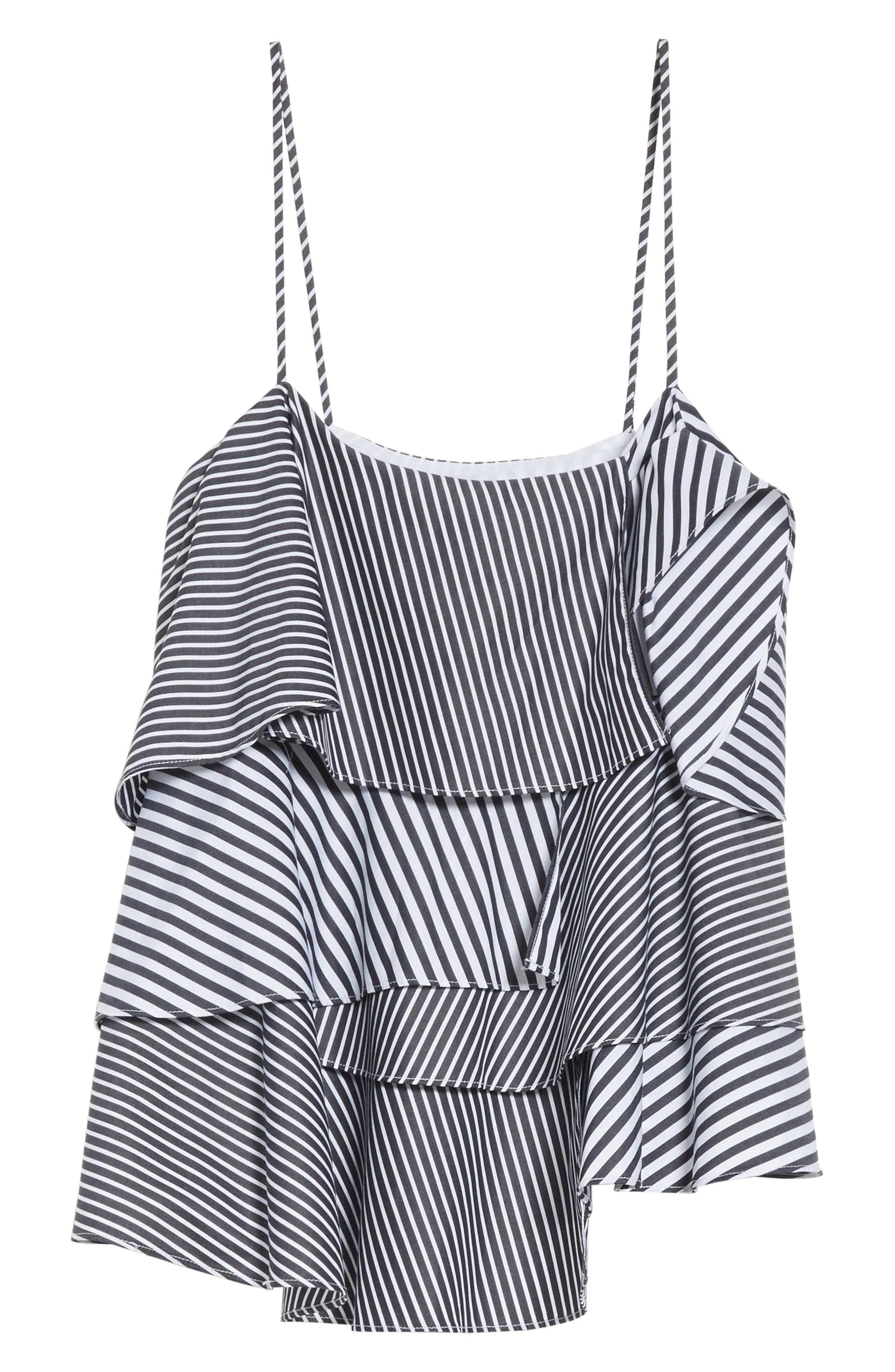 Emma Stripe Shirting Top,                             Alternate thumbnail 6, color,                             001