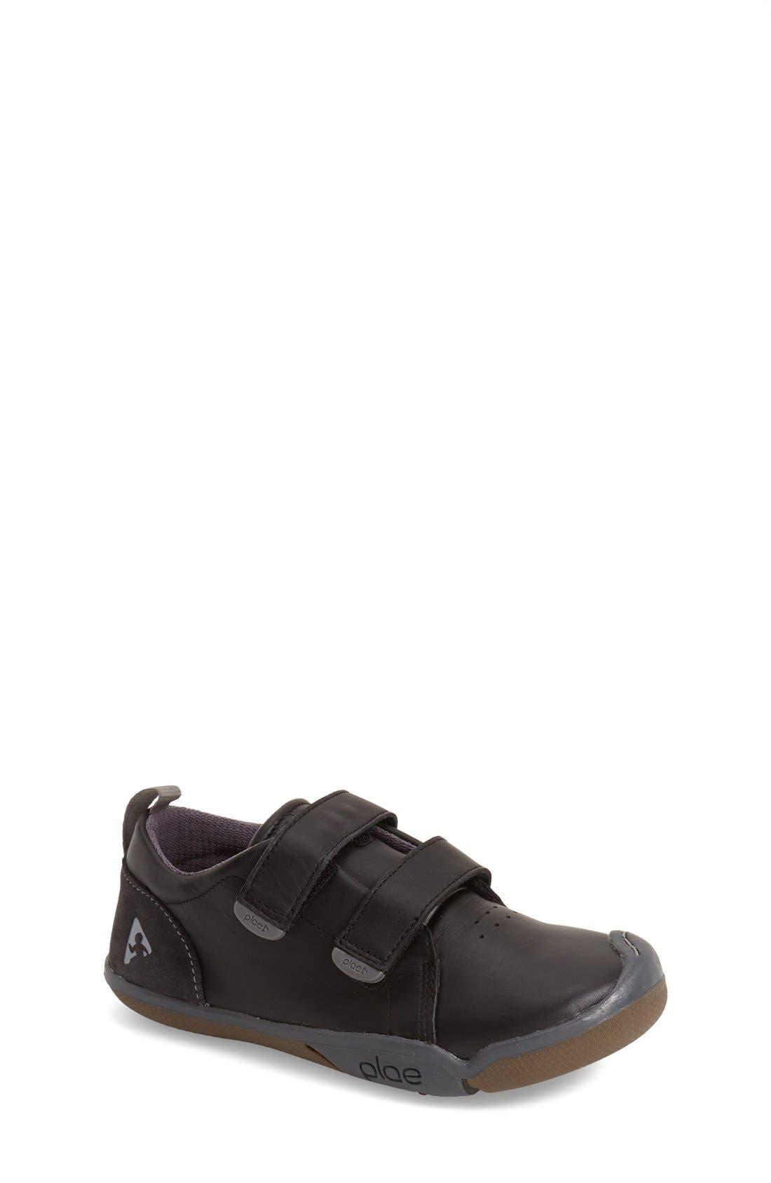 Roan Customizable Leather Sneaker,                         Main,                         color, BLACK SCHOOL