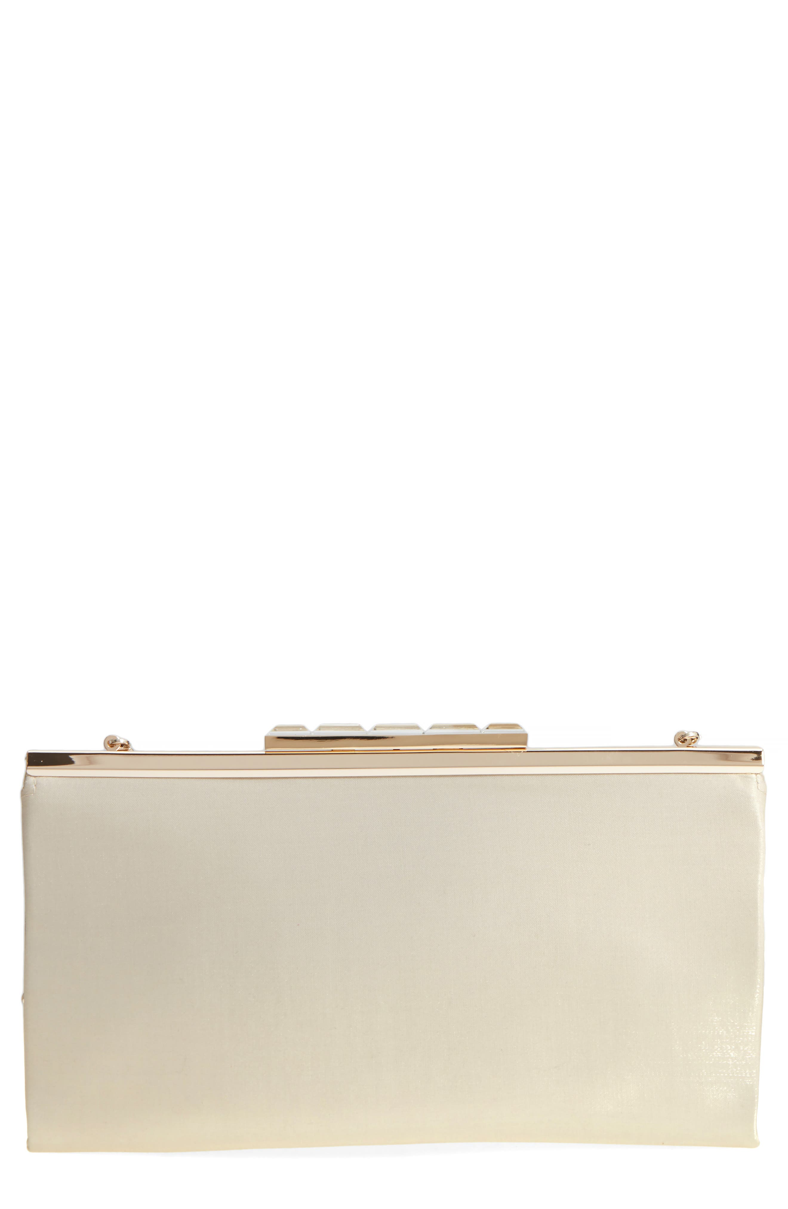 Crystal Clasp Shimmer Clutch,                             Main thumbnail 1, color,                             270
