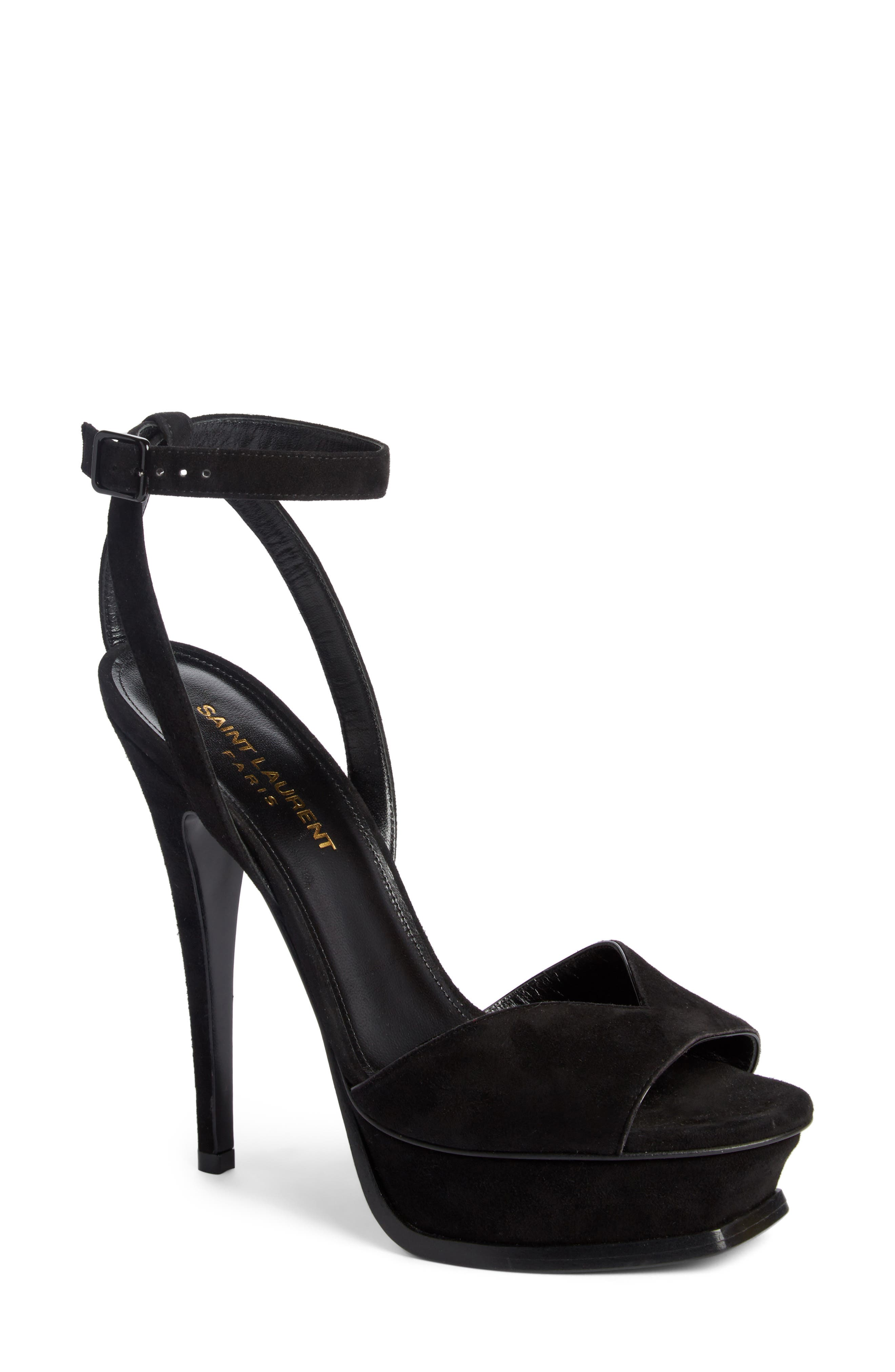 Tribute Platform Sandal,                             Main thumbnail 1, color,                             BLACK