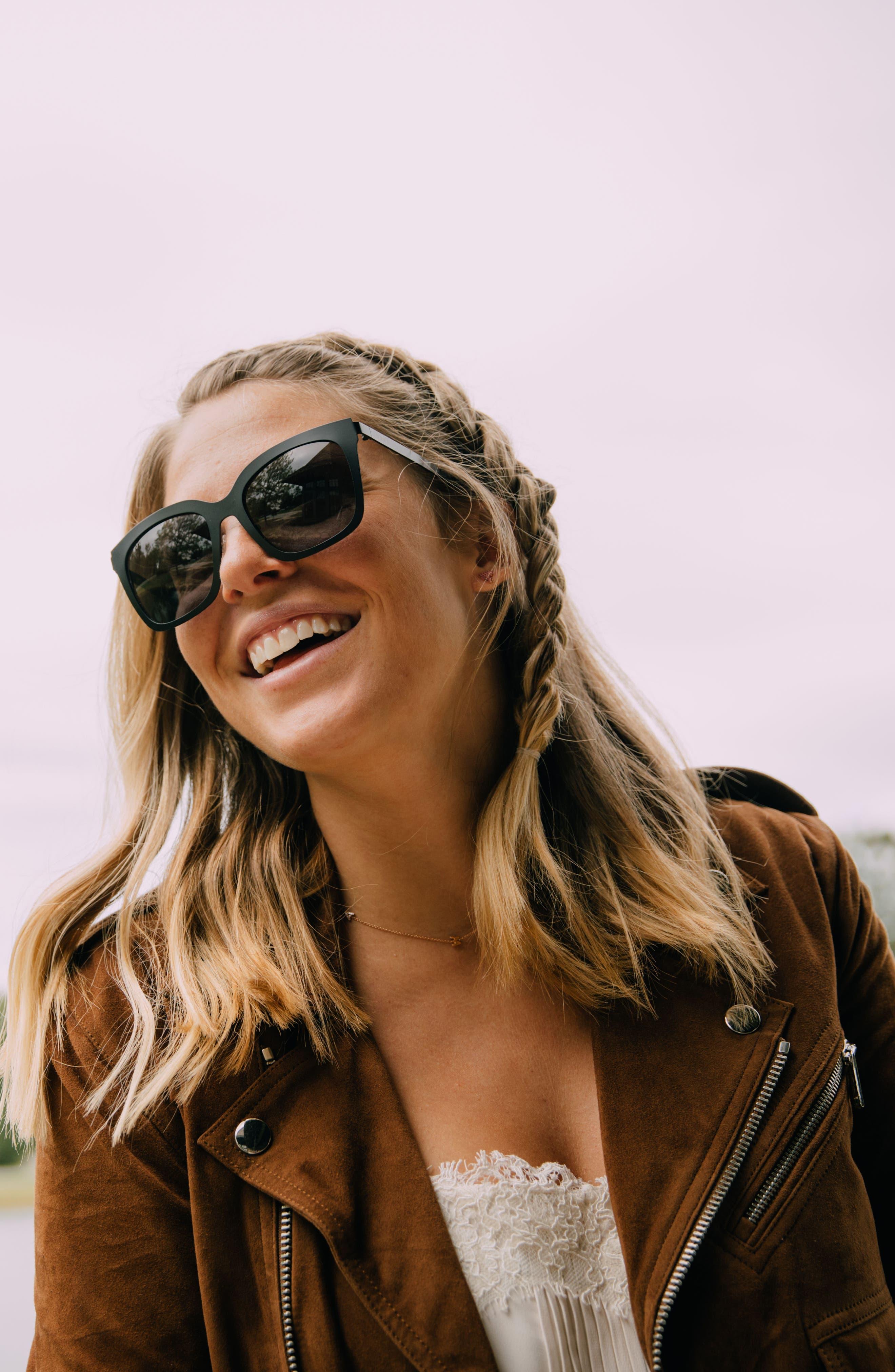 x Lauren Akins Ella 53mm Cat Eye Sunglasses,                             Alternate thumbnail 4, color,