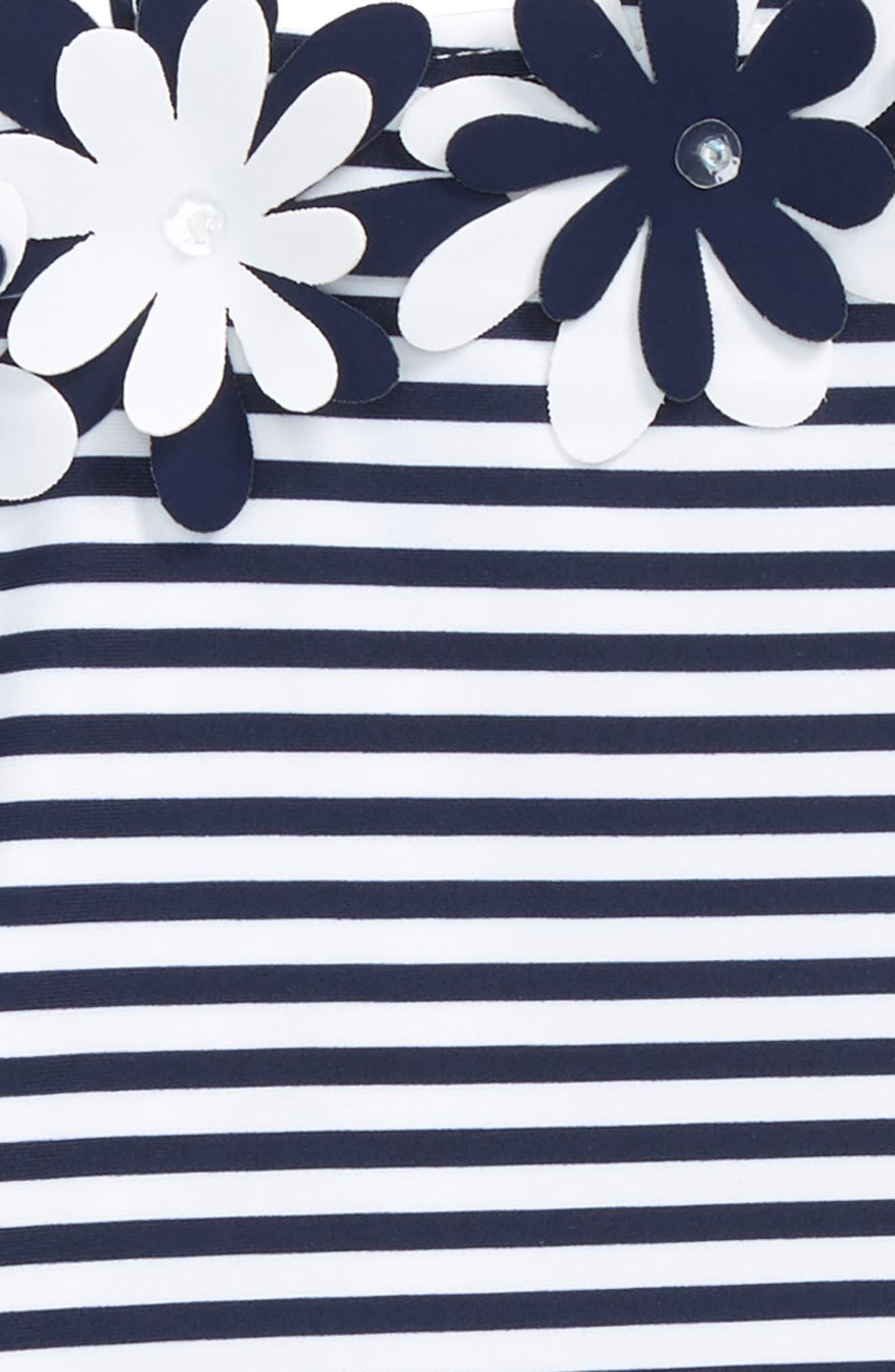 Stripe One-Piece Swimsuit,                             Alternate thumbnail 2, color,                             101