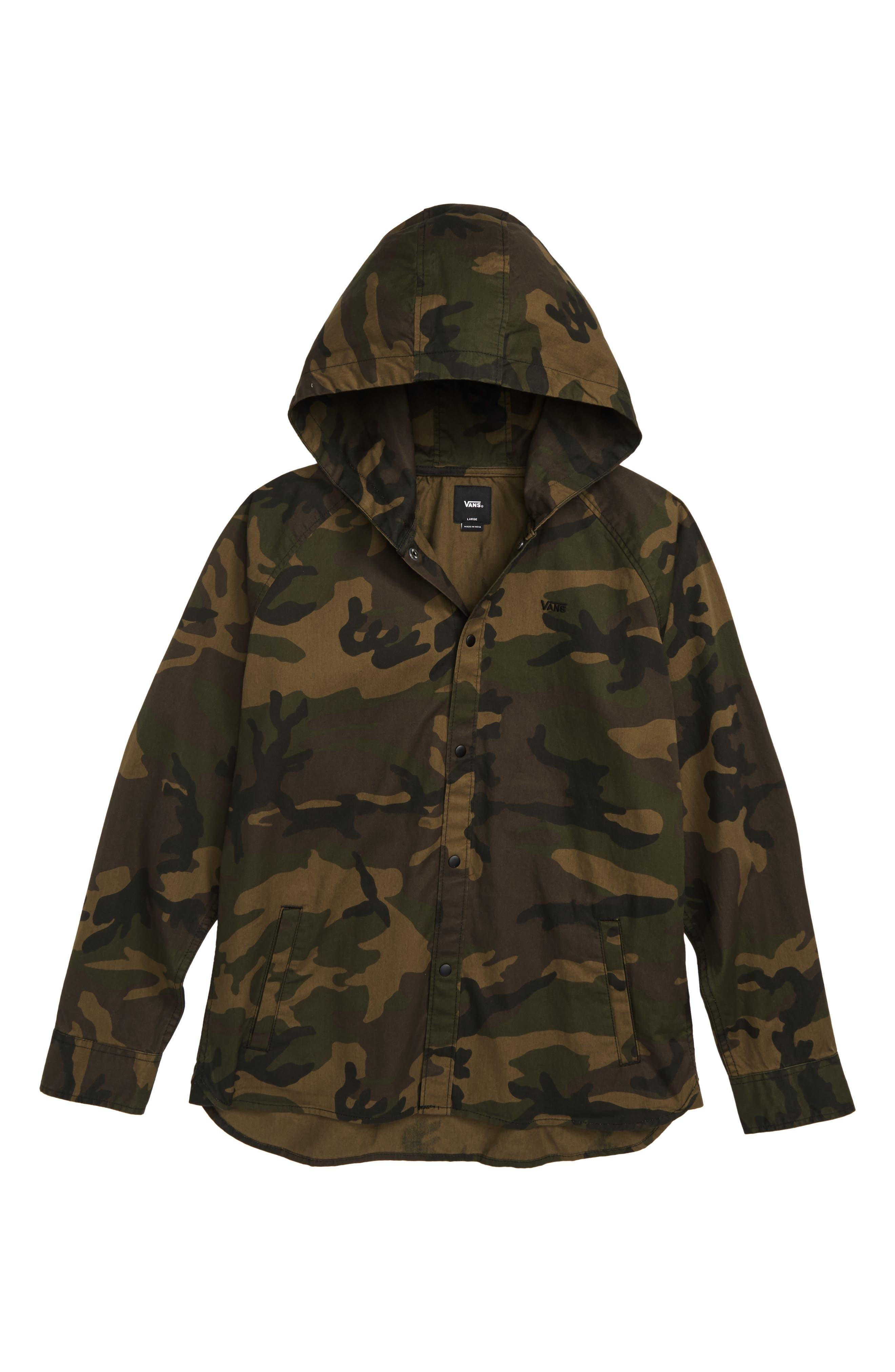Bradbury Camo Hooded Jacket,                             Main thumbnail 1, color,                             251