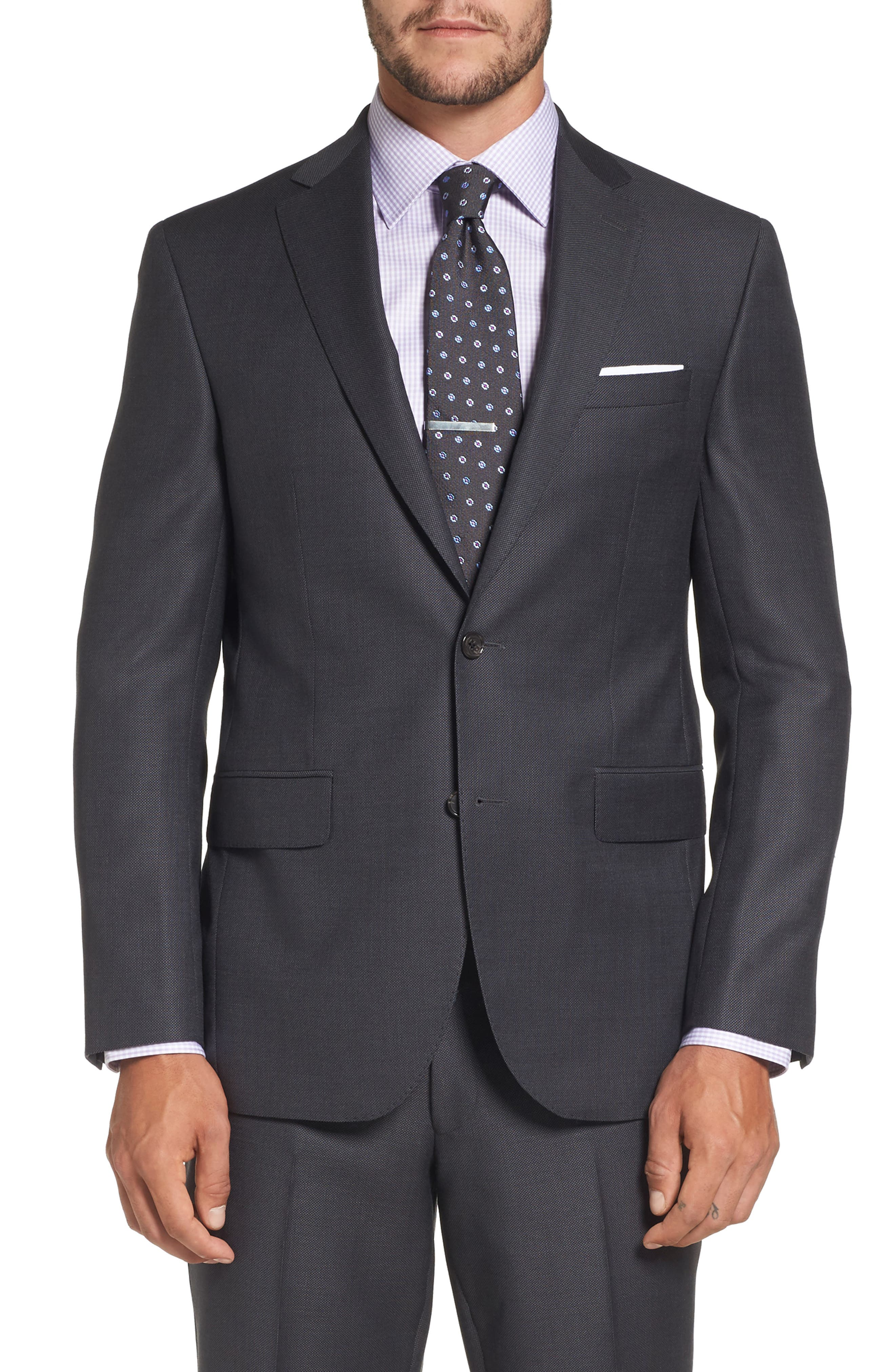 Ryan Classic Fit Solid Wool Suit,                             Alternate thumbnail 5, color,                             010