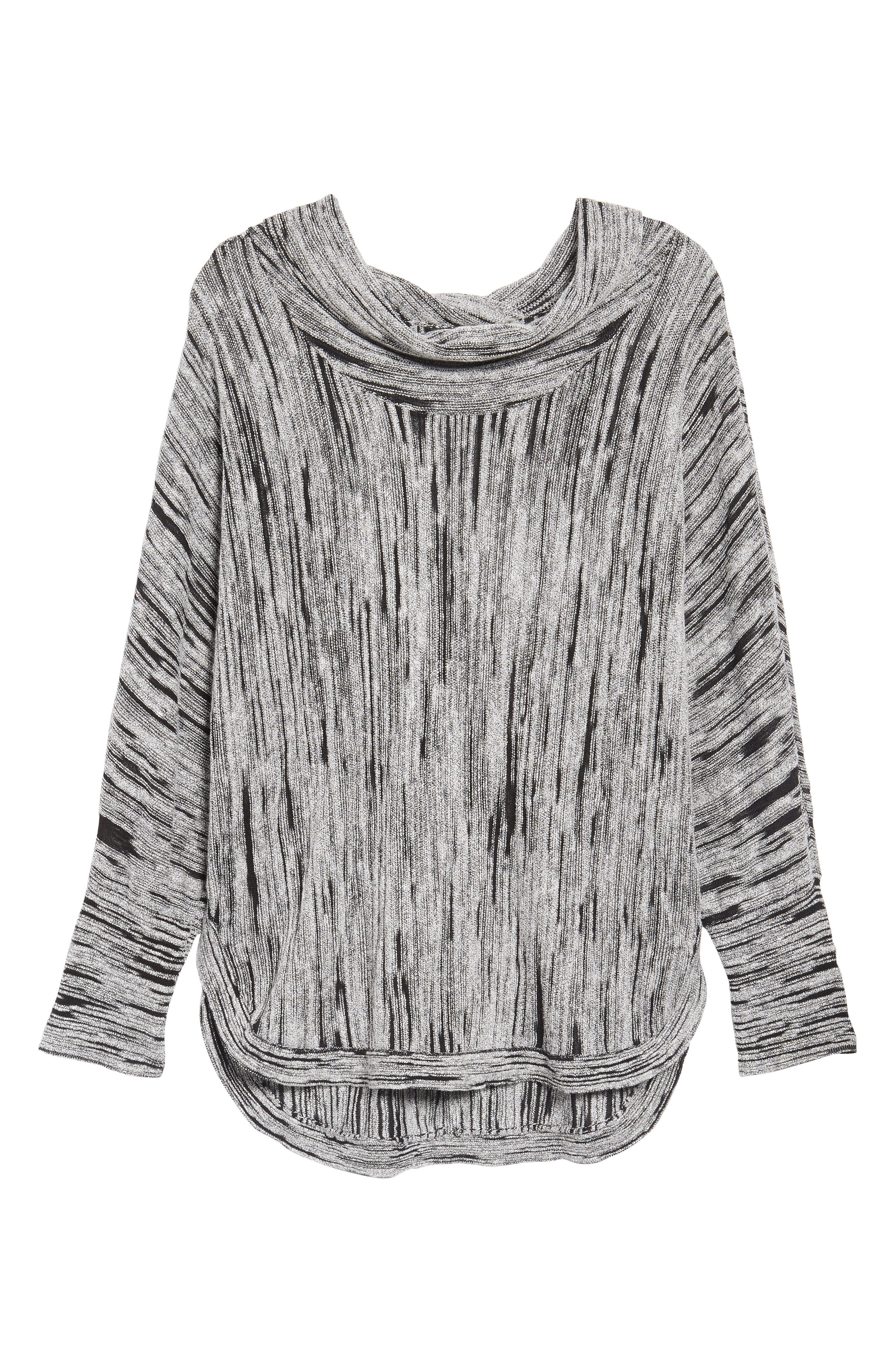 Cowl Neck Open Stitch Sweater,                             Alternate thumbnail 6, color,                             004